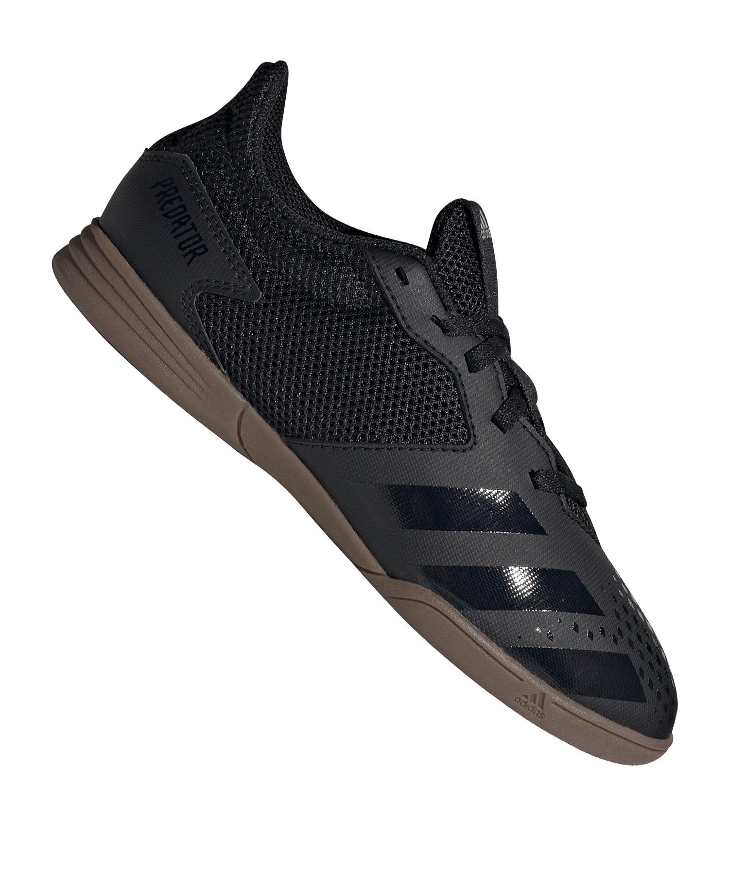 adidas Predator 20.4 IN Halle Kids Schwarz Grau - schwarz