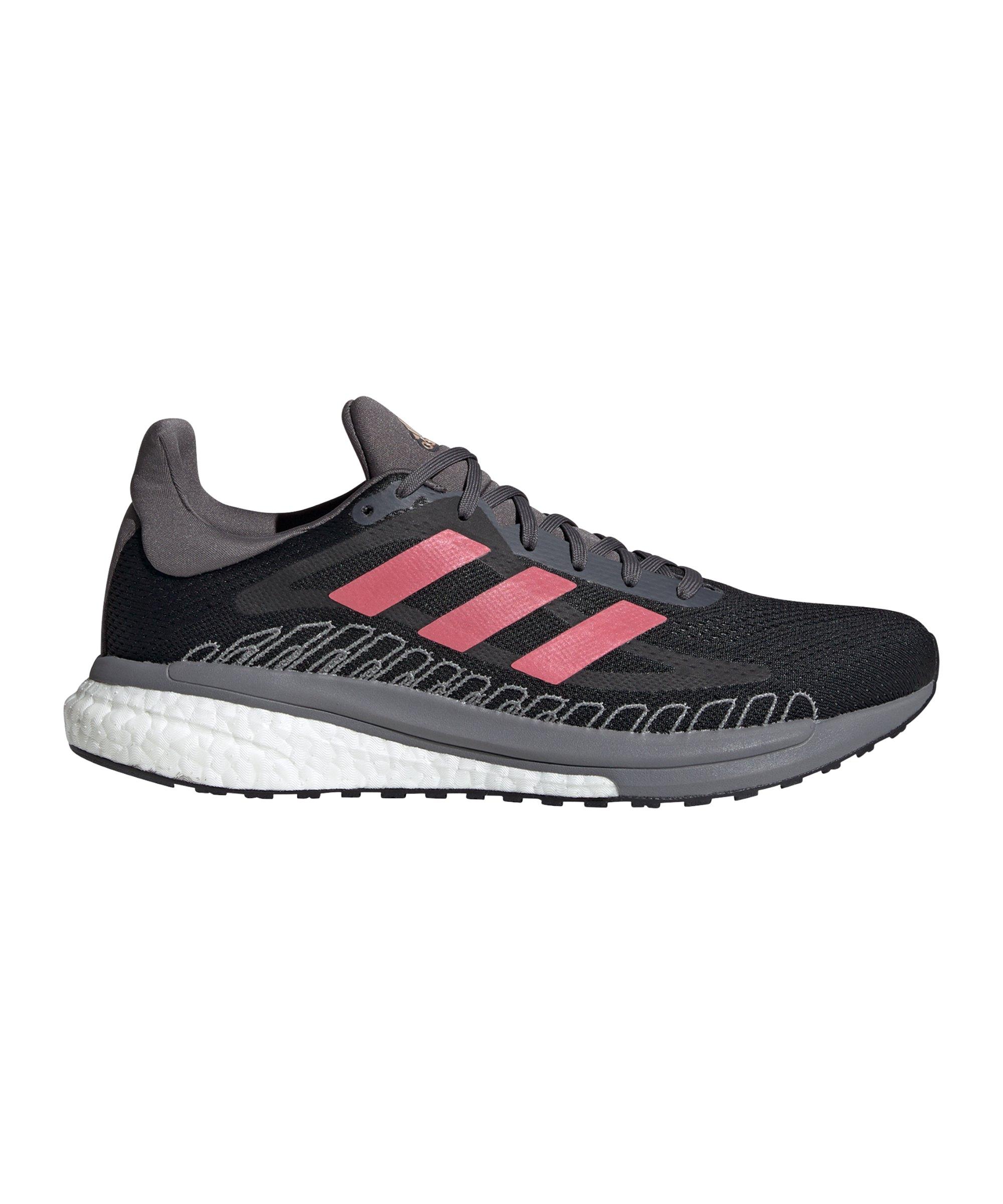 adidas Solar Glide ST 3 Running Schwarz Grau Pink - schwarz