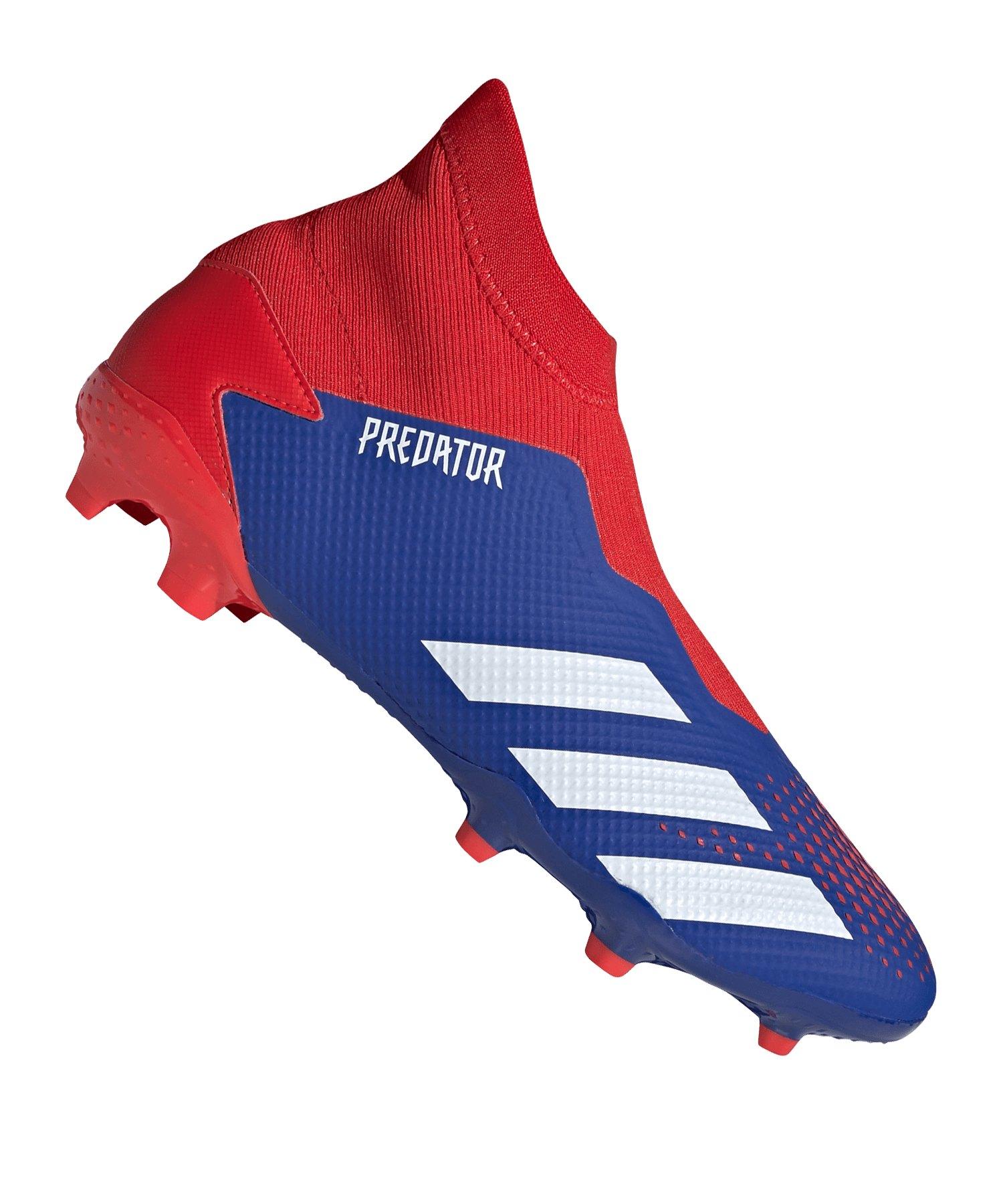 adidas Predator 20.3 LL FG Blau Rot - blau