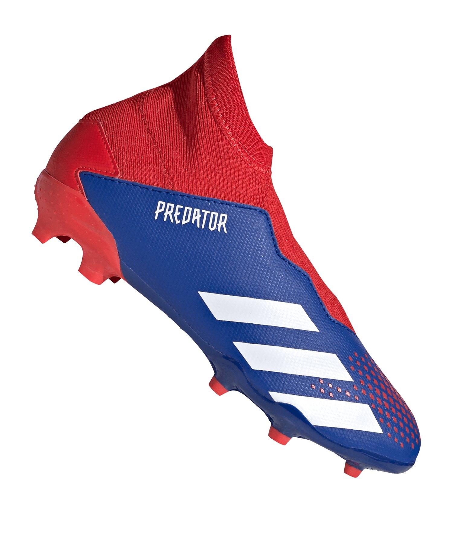 adidas Predator 20.3 LL FG J Kids Blau Rot - blau