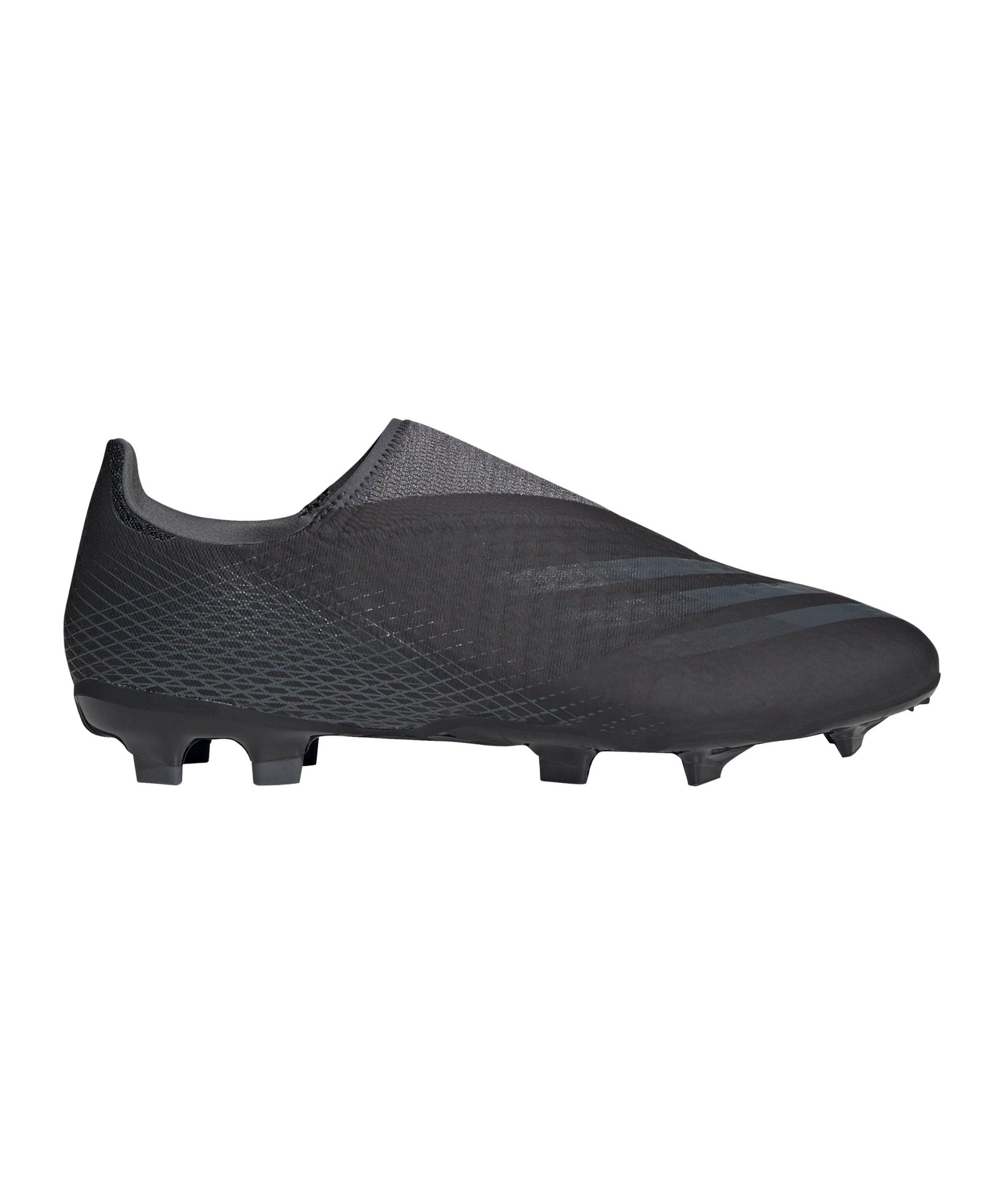 adidas X GHOSTED.3 LL FG Dark Motion Schwarz Grau - schwarz
