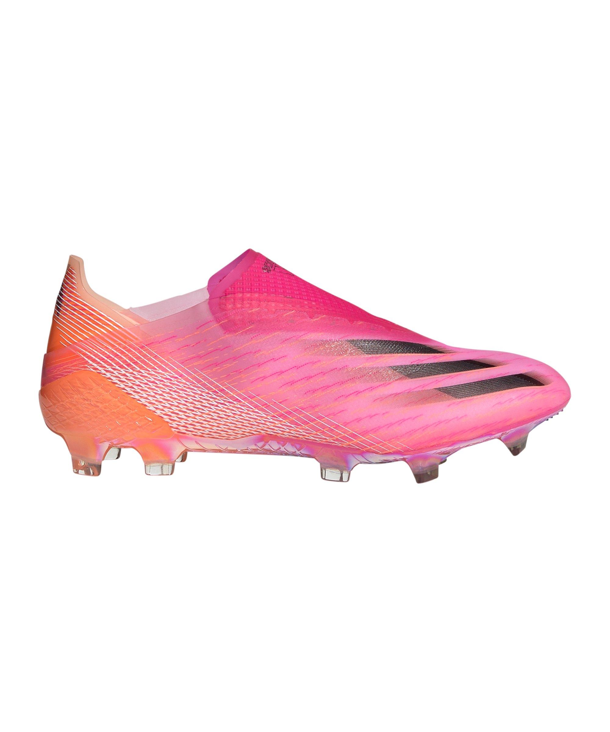 adidas X GHOSTED+ FG Superspectral Pink Schwarz Orange - pink