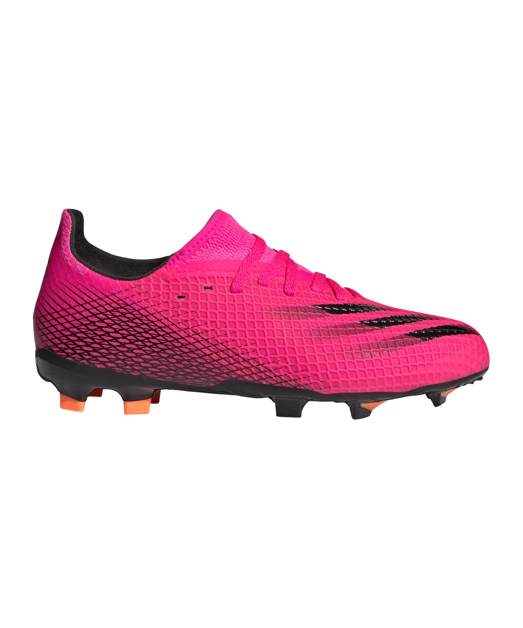 adidas X GHOSTED.3 FG J Kids Superspectral Pink Schwarz Orange - pink