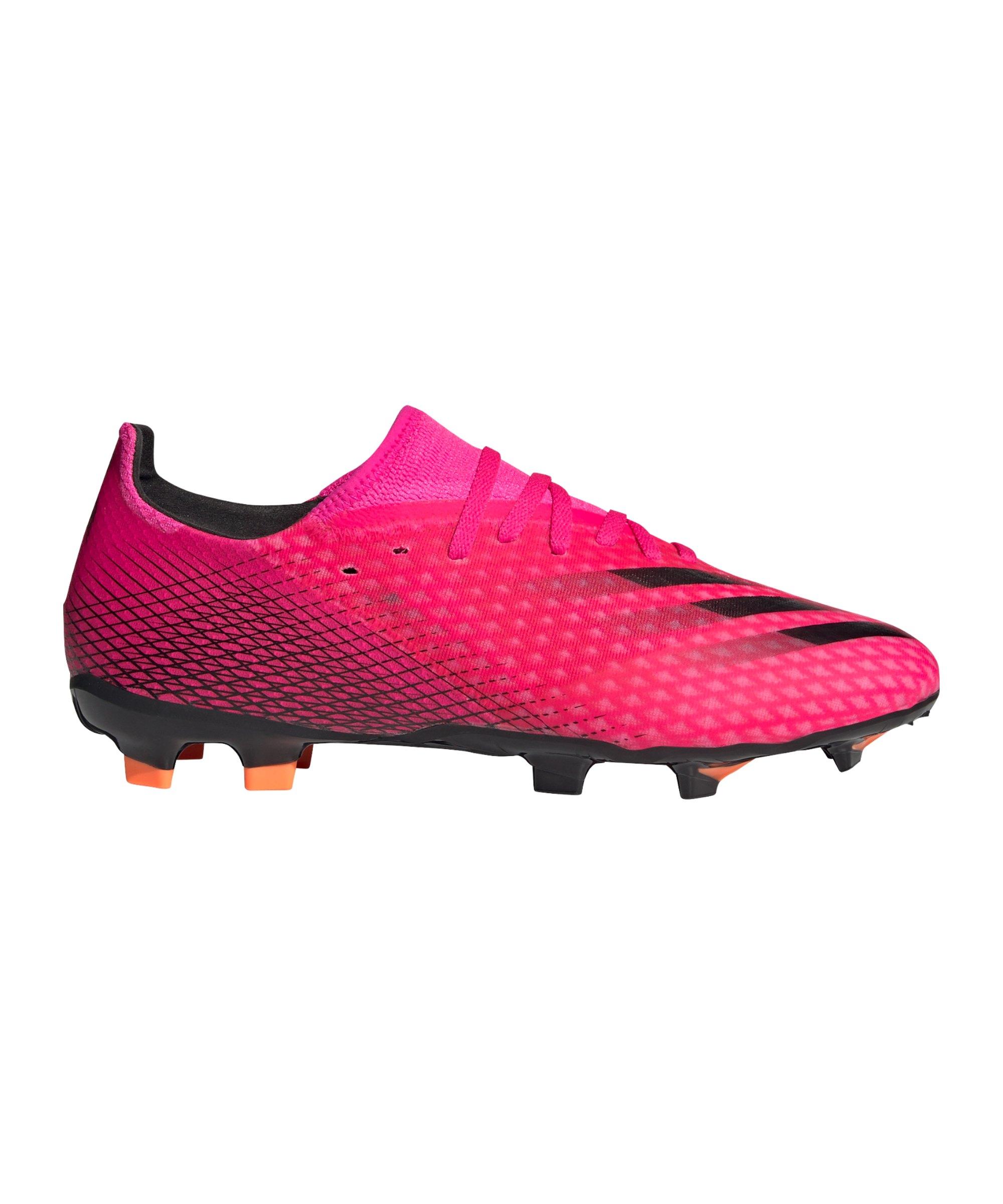 adidas X GHOSTED.3 FG Superspectral Pink Schwarz Orange - pink