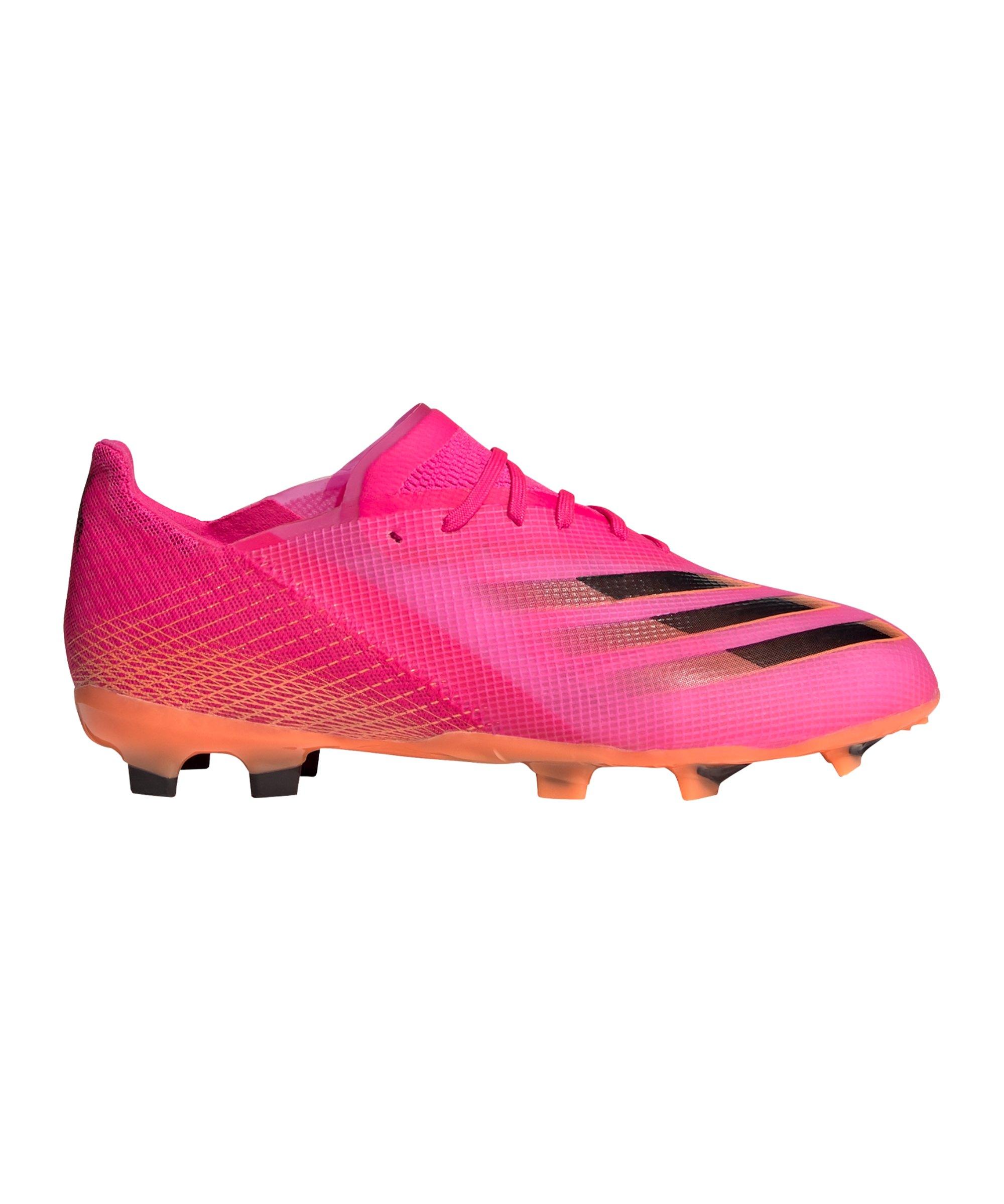 adidas X GHOSTED.1 FG Superspectral J Kids Pink Schwarz Orange - pink
