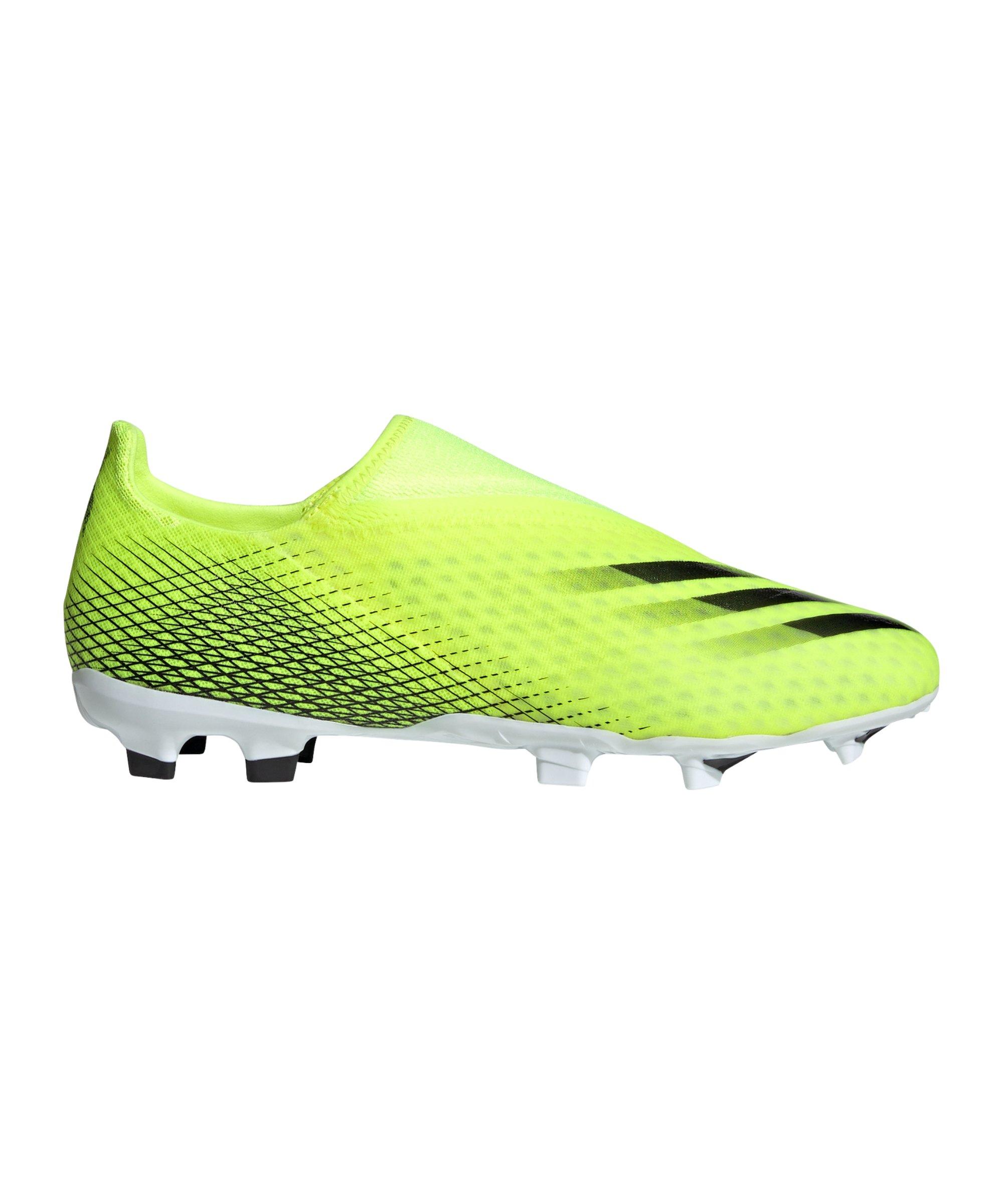 adidas X GHOSTED.3 LL FG Superlative Gelb Schwarz - gelb