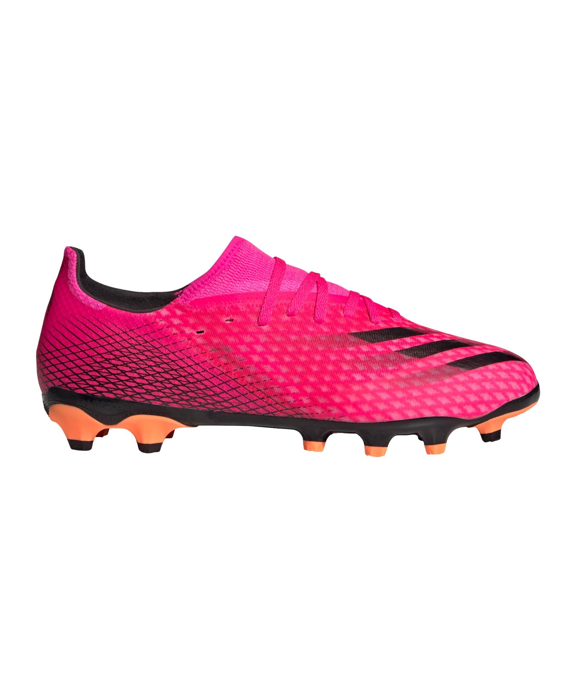 adidas X GHOSTED.3 MG Superspectral Pink Schwarz Orange - pink