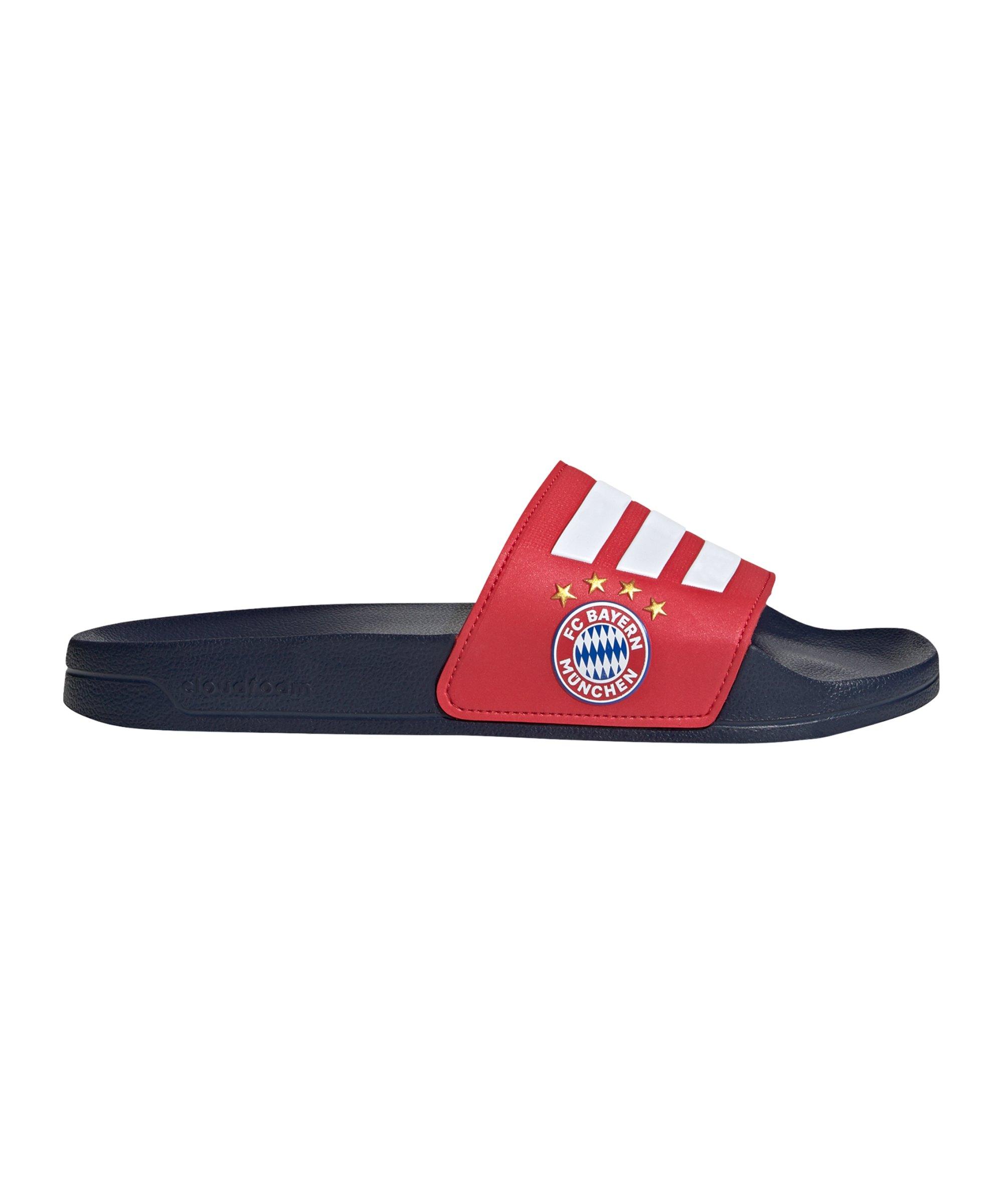 adidas Adilette Shower Badelatsche Rot Weiss Blau - rot