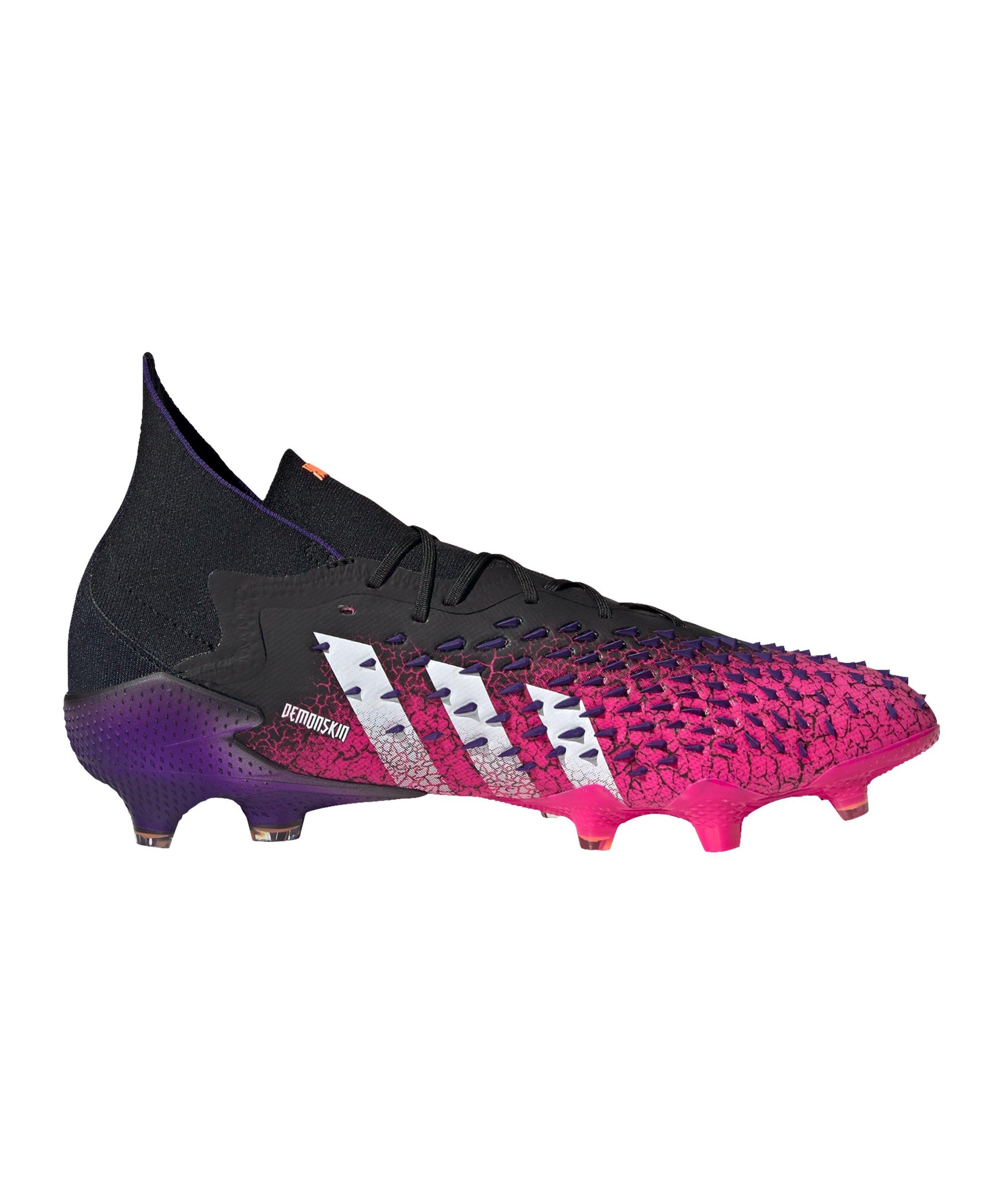 adidas Predator FREAK.1 FG Superspectral Schwarz Weiss Pink - schwarz