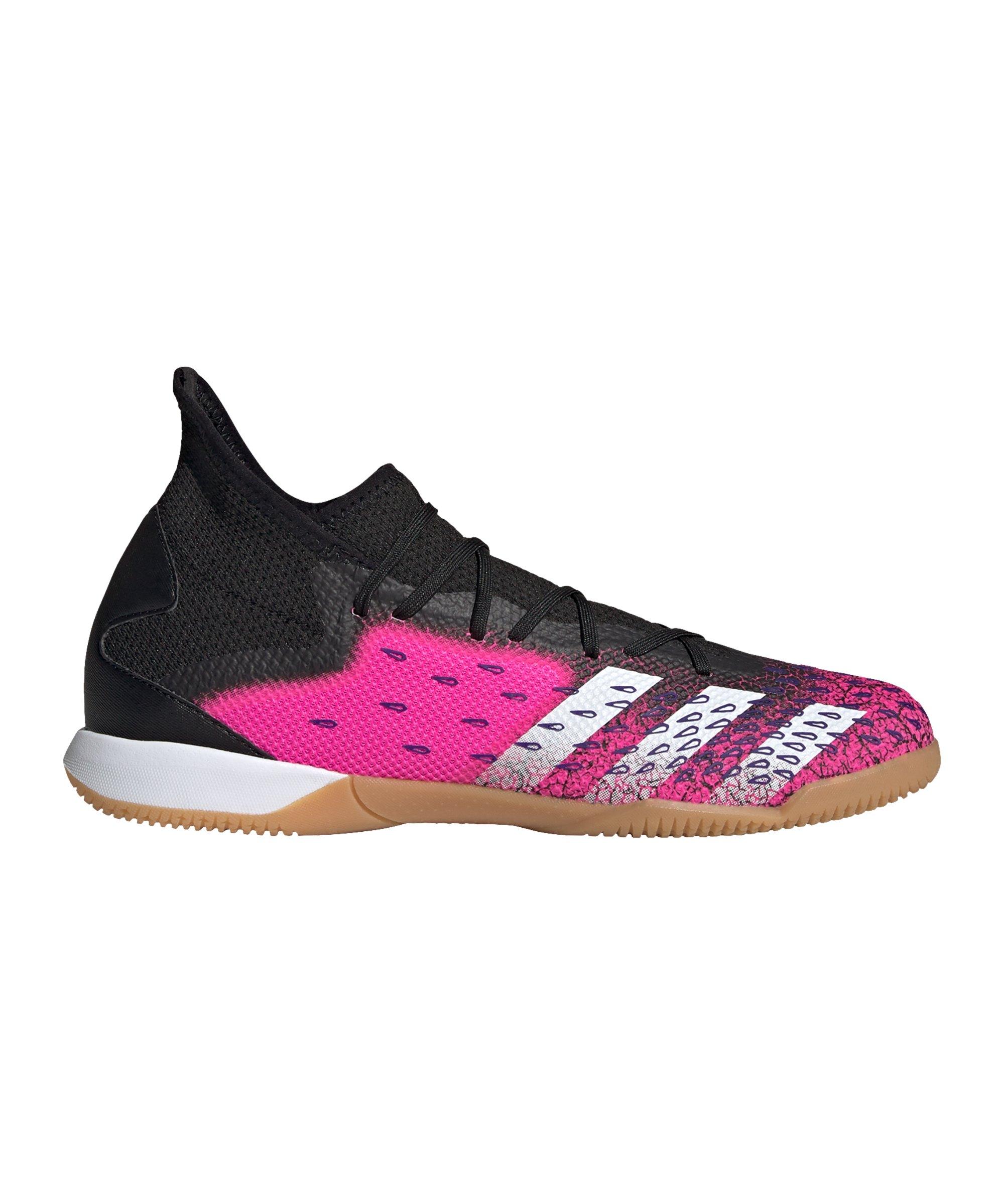 adidas Predator FREAK.3 IN Halle Superspectral Schwarz Pink - schwarz