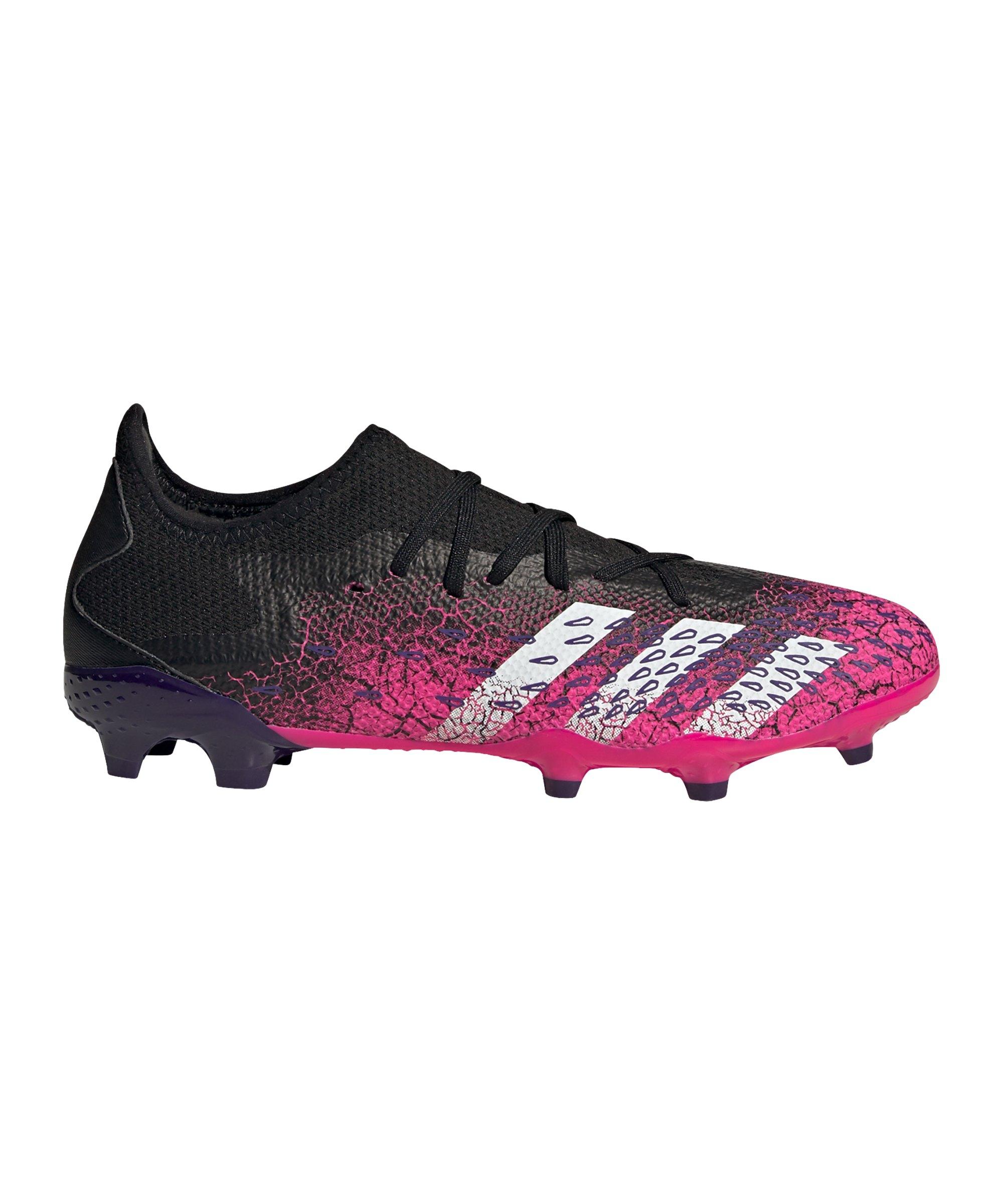 adidas Predator FREAK.3 L FG Superspectral Schwarz Weiss Pink - schwarz