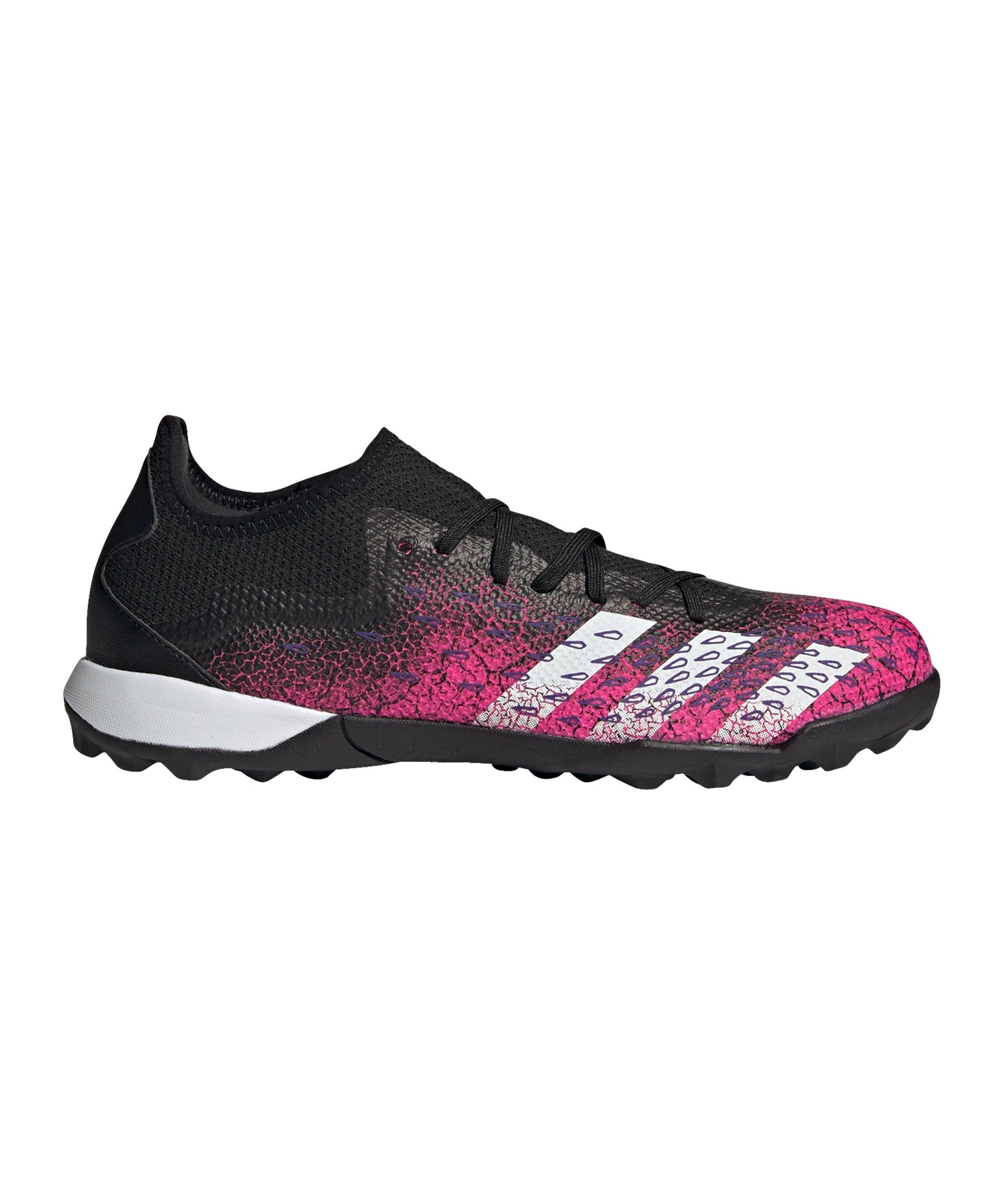 adidas Predator FREAK.3 L TF Superspectral Schwarz Weiss Pink - schwarz