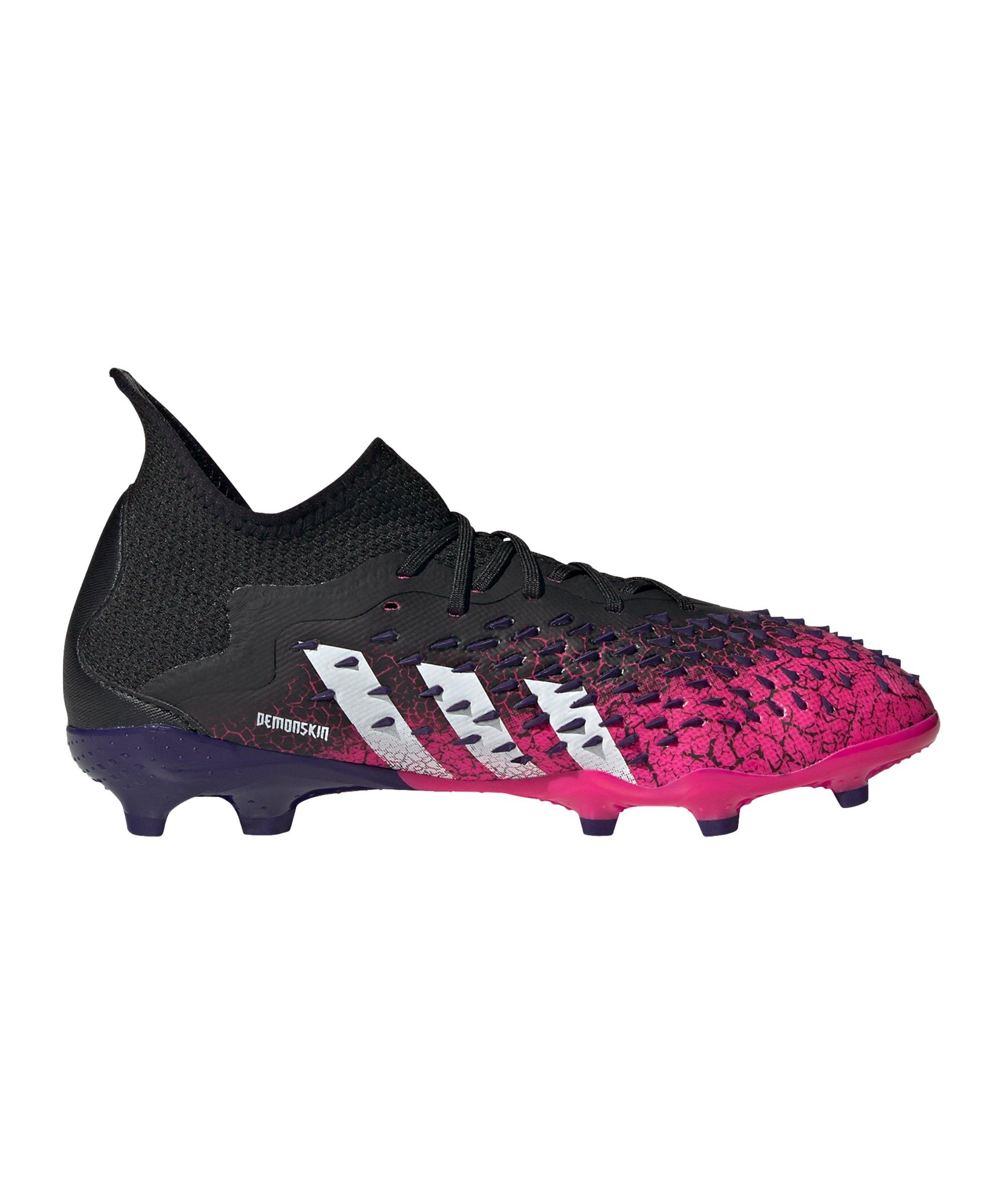 adidas Predator FREAK.1 FG Superspectral J Kids Schwarz Weiss Pink - schwarz