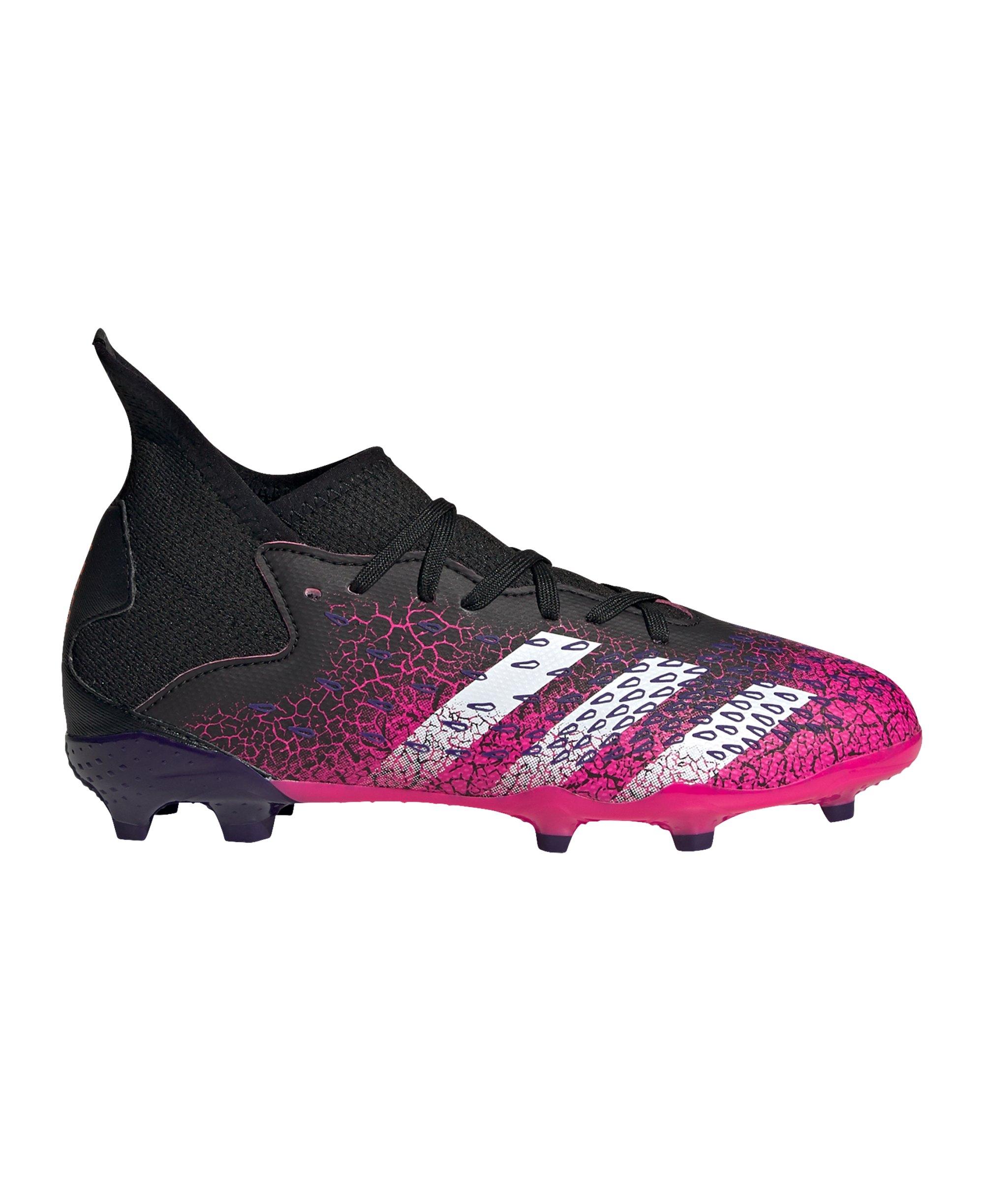 adidas Predator FREAK.3 FG Superspectral J Kids Schwarz Pink - schwarz