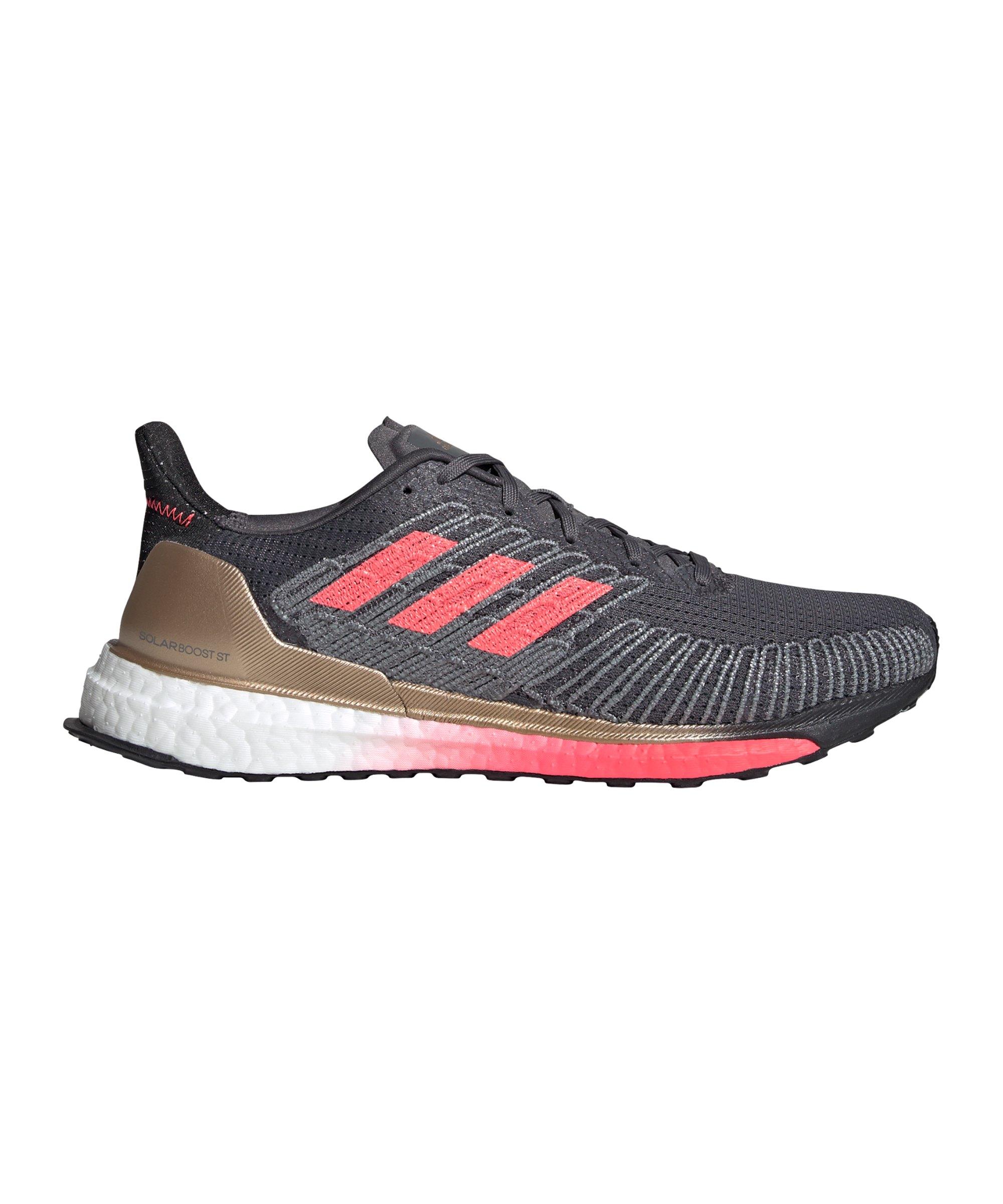 adidas Solar Boost ST 19 Running Grau Pink Weiss - grau