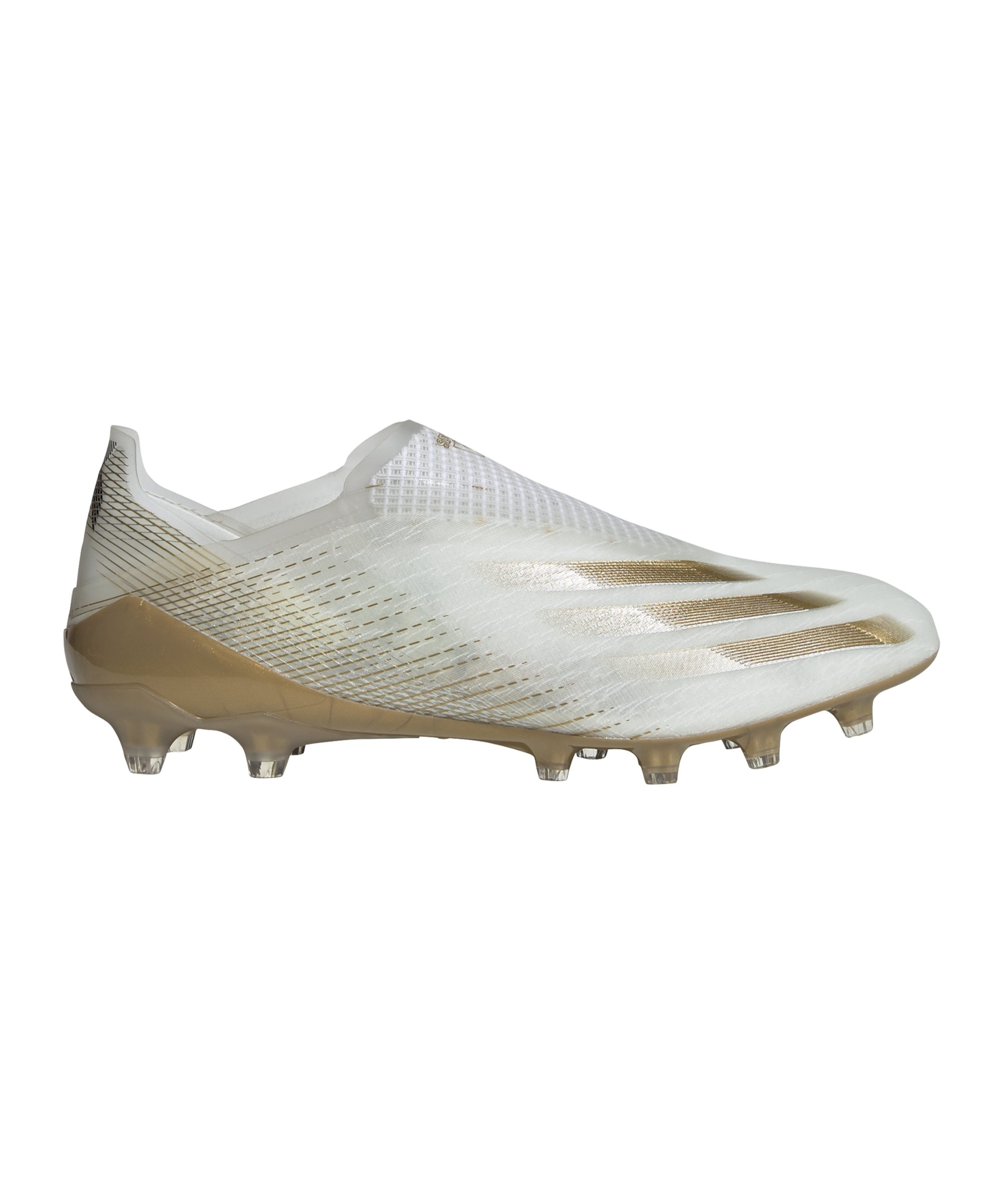 adidas X GHOSTED+ AG Inflight Weiss Gold - weiss