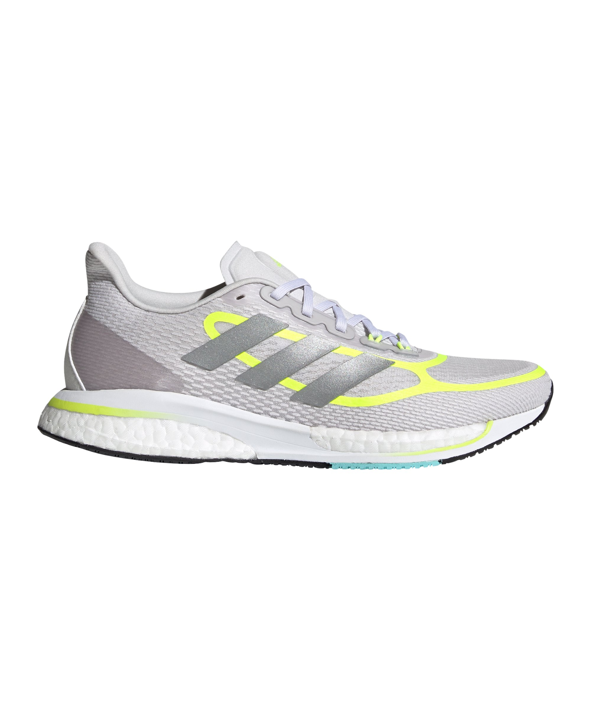 adidas Supernova+ Running Damen Grau Gelb - grau