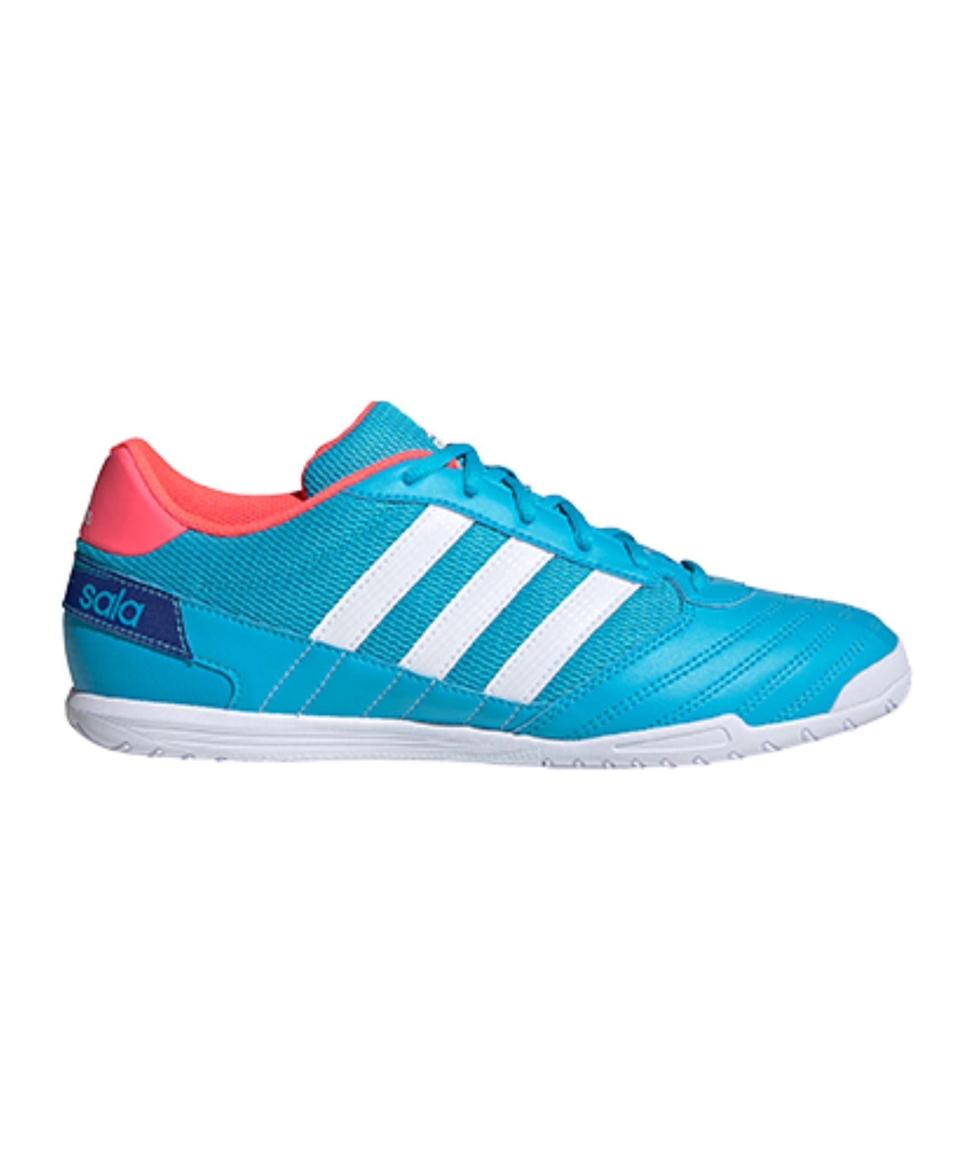 adidas Super Sala IN Halle Blau Pink Weiss - blau