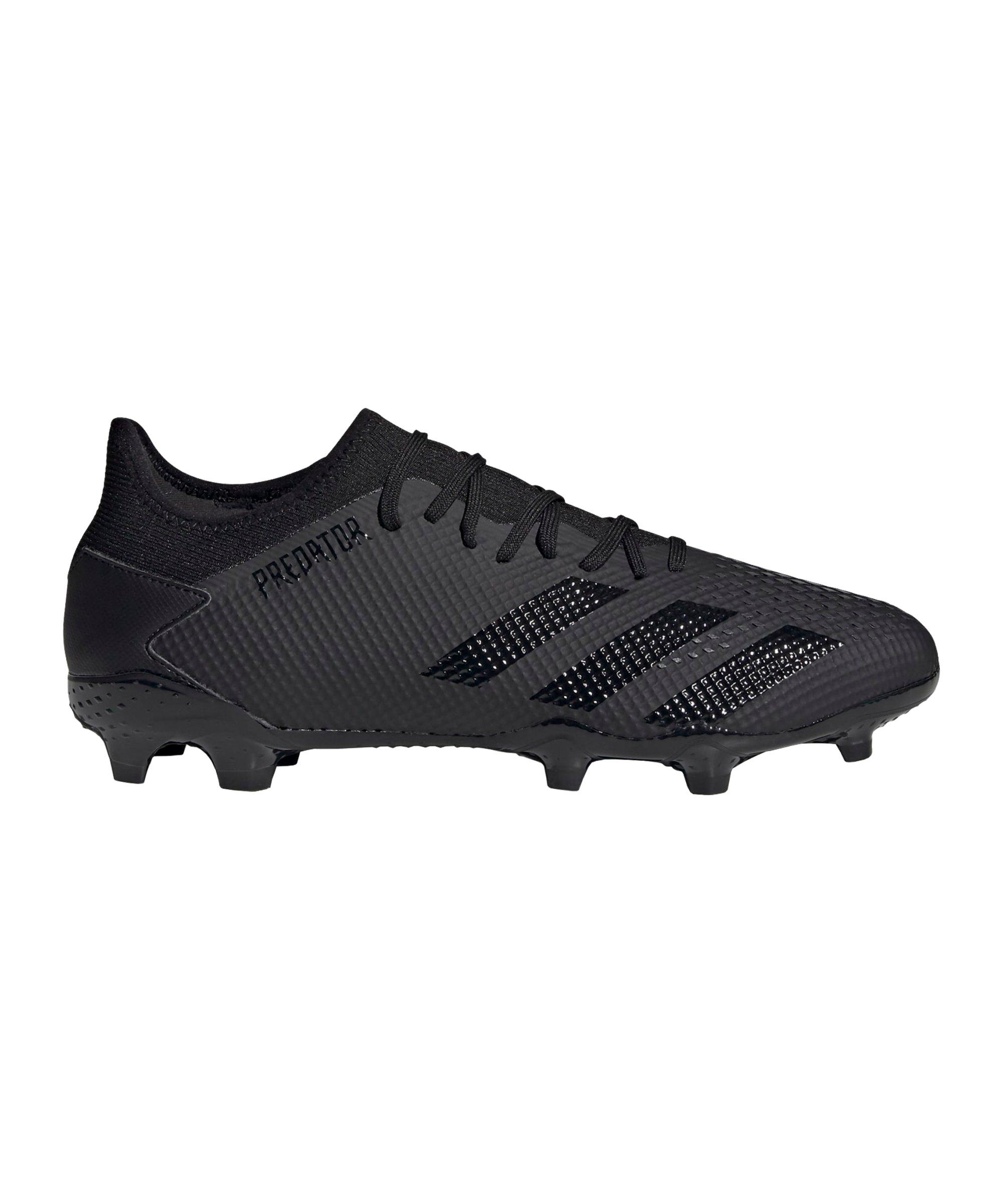adidas Predator Dark Motion 20.3 L FG Schwarz Grau - schwarz