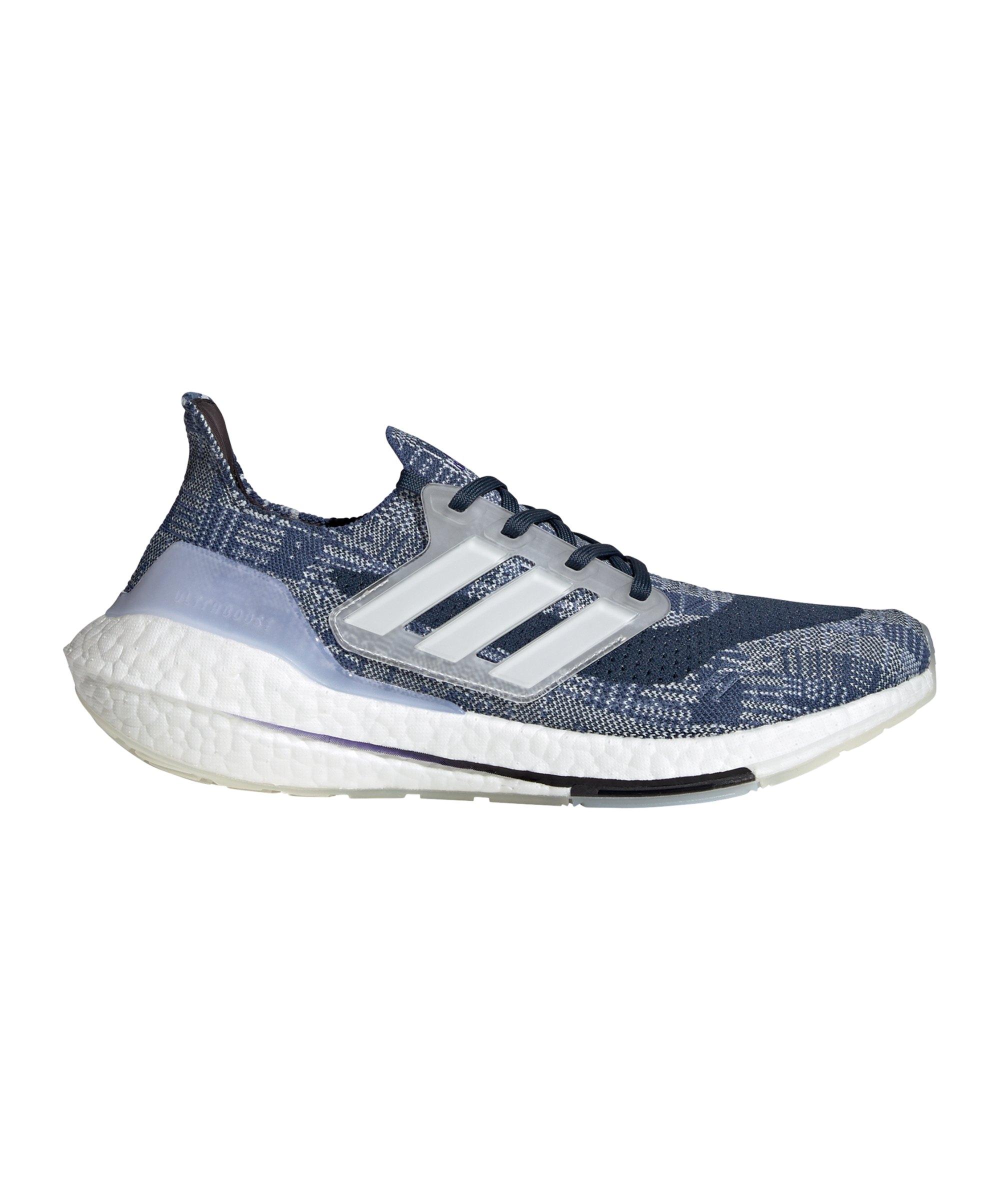 adidas Ultraboost 21 Primeblue Running Blau Weiss - blau