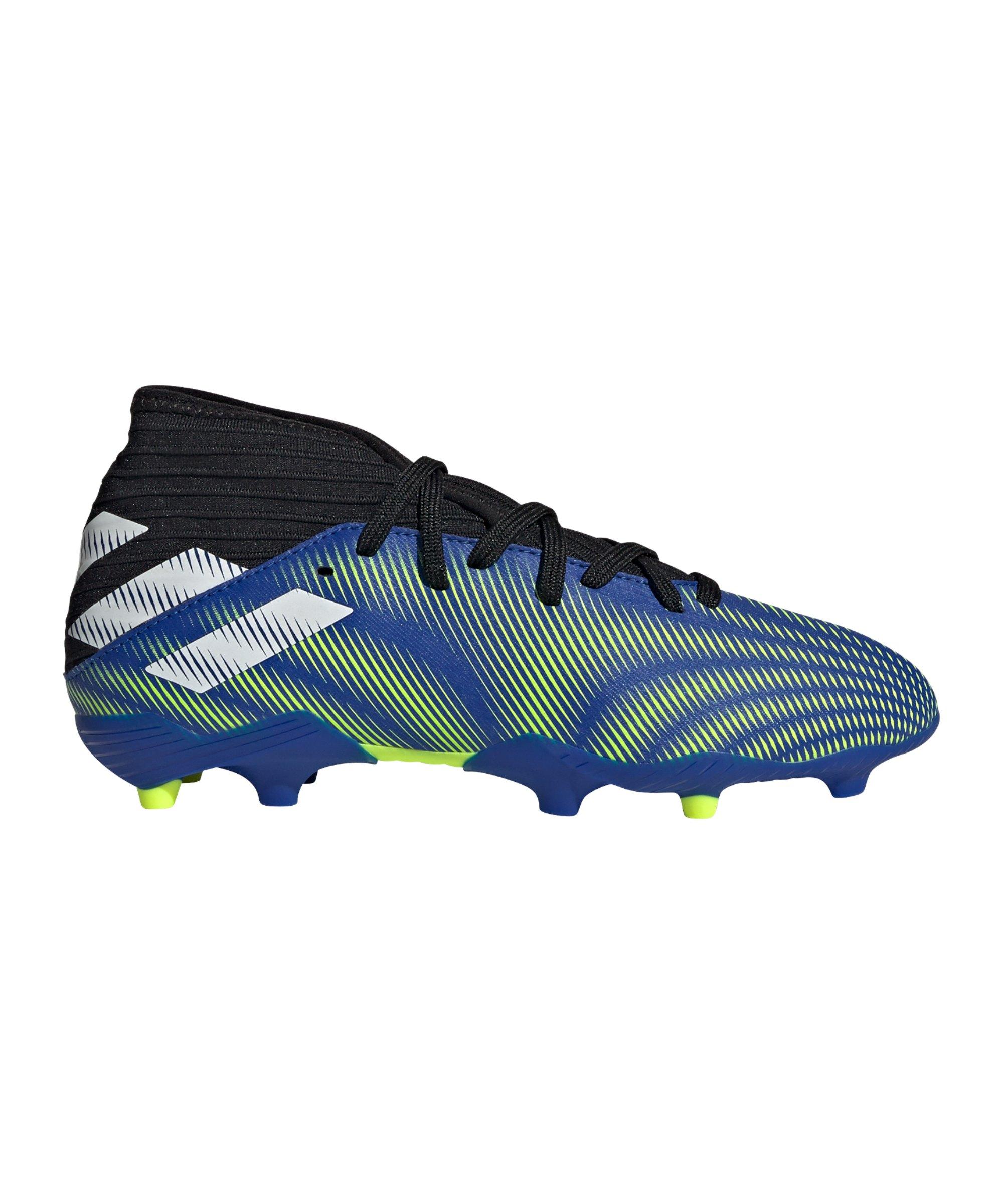 adidas NEMEZIZ.3 FG Superlative J Kids Blau Weiss - blau