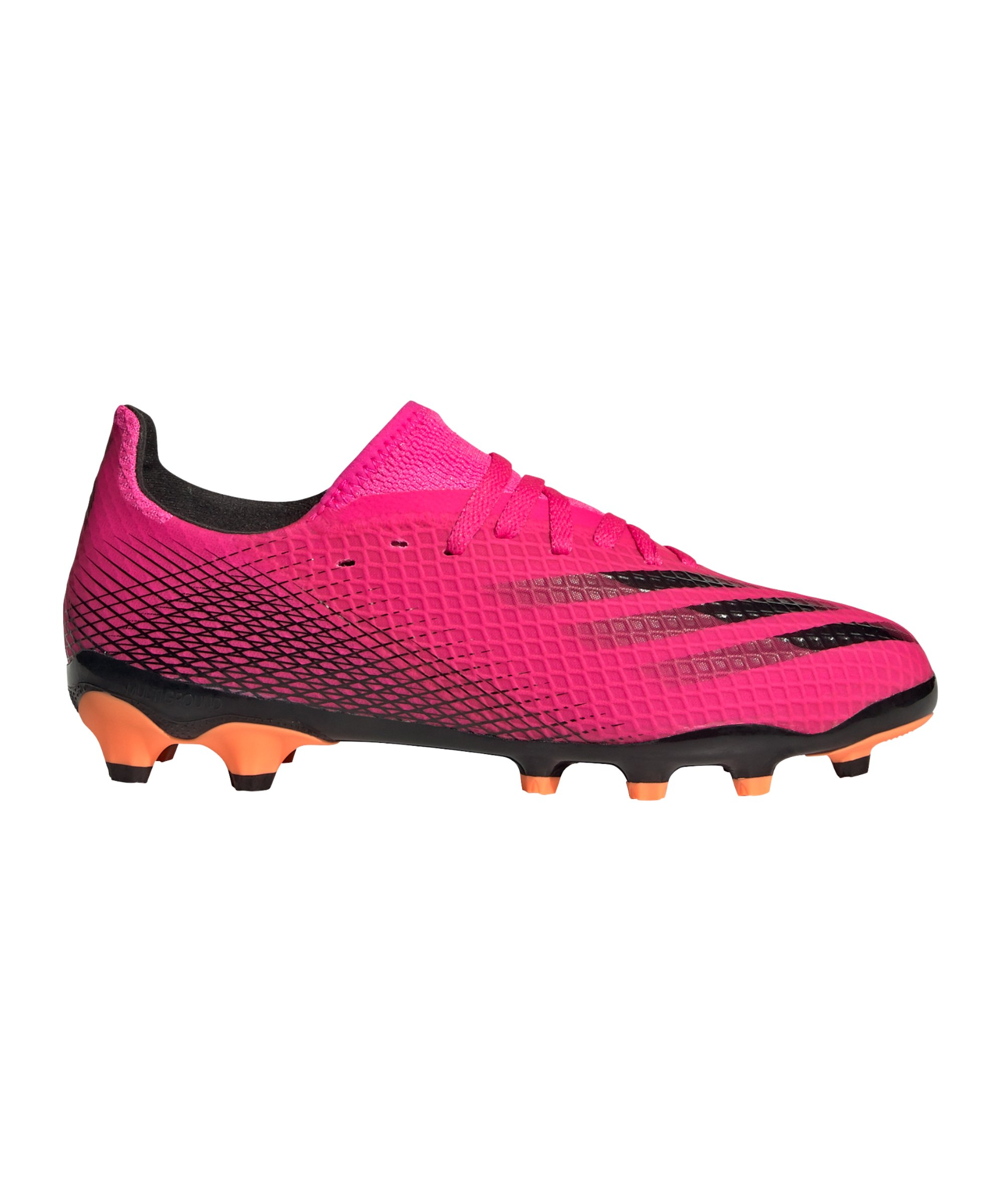 adidas X GHOSTED.3 MG Superspectral J Kids Pink Schwarz Orange - pink