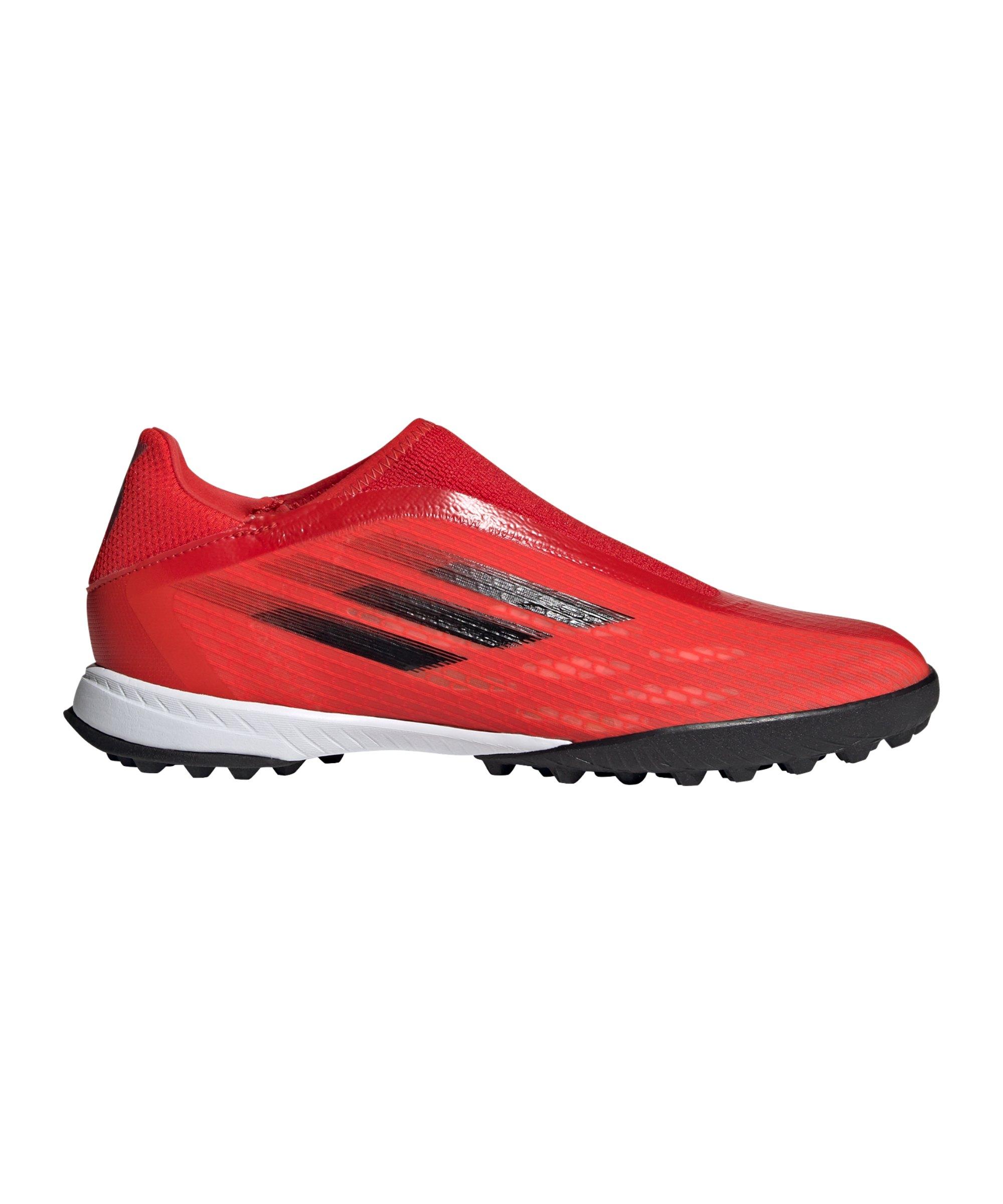 adidas X SPEEDFLOW.3 LL TF Meteorite Rot Schwarz - rot