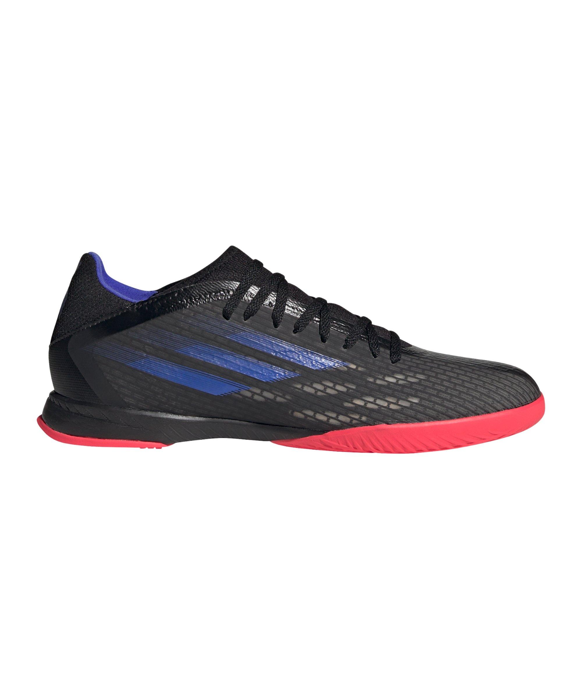 adidas X SPEEDFLOW.3 IN Halle Escapelight Schwarz Blau - schwarz