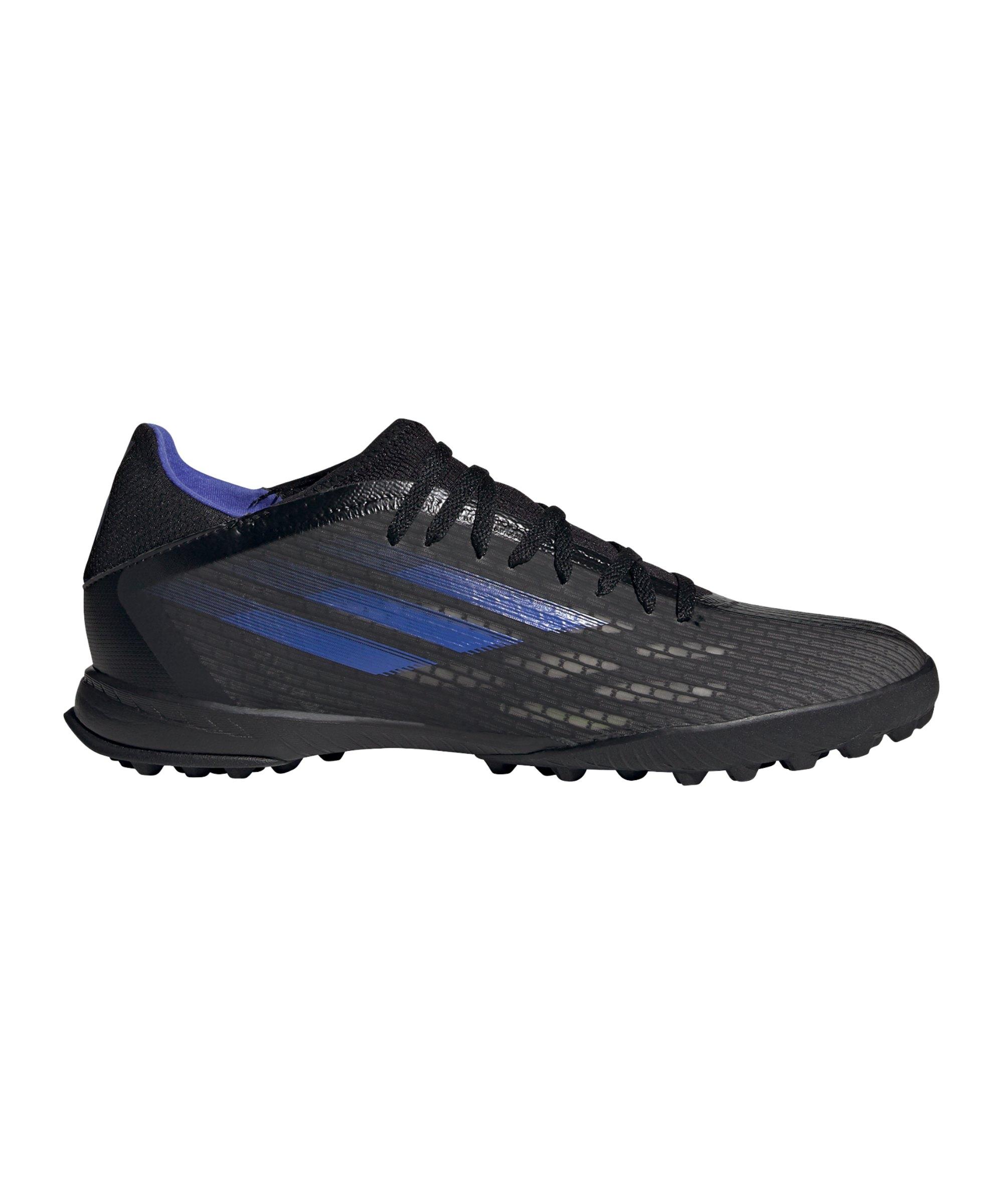 adidas X SPEEDFLOW.3 TF Escapelight Schwarz Blau - schwarz