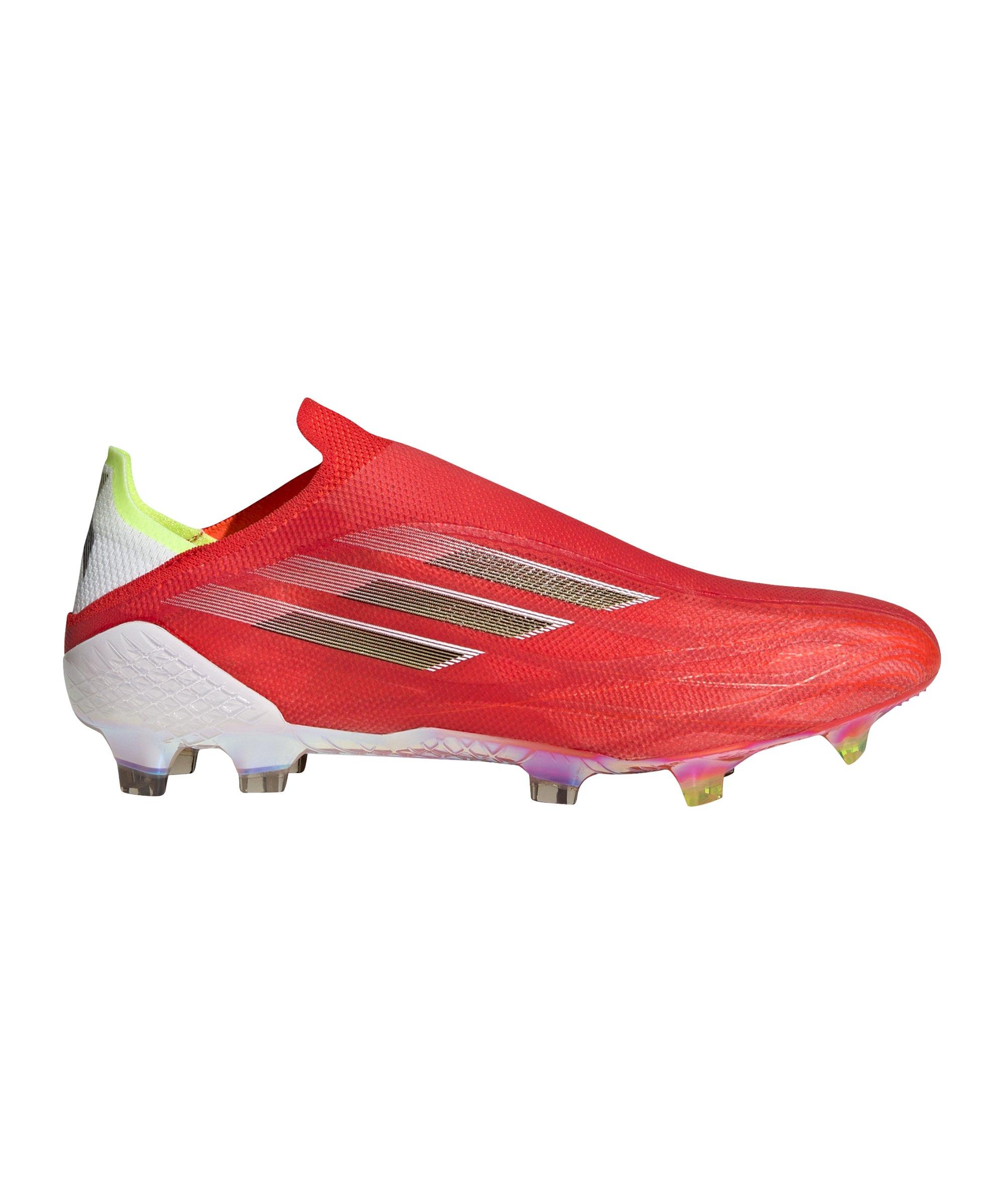 adidas X SPEEDFLOW+ FG Meteorite Rot Schwarz - rot
