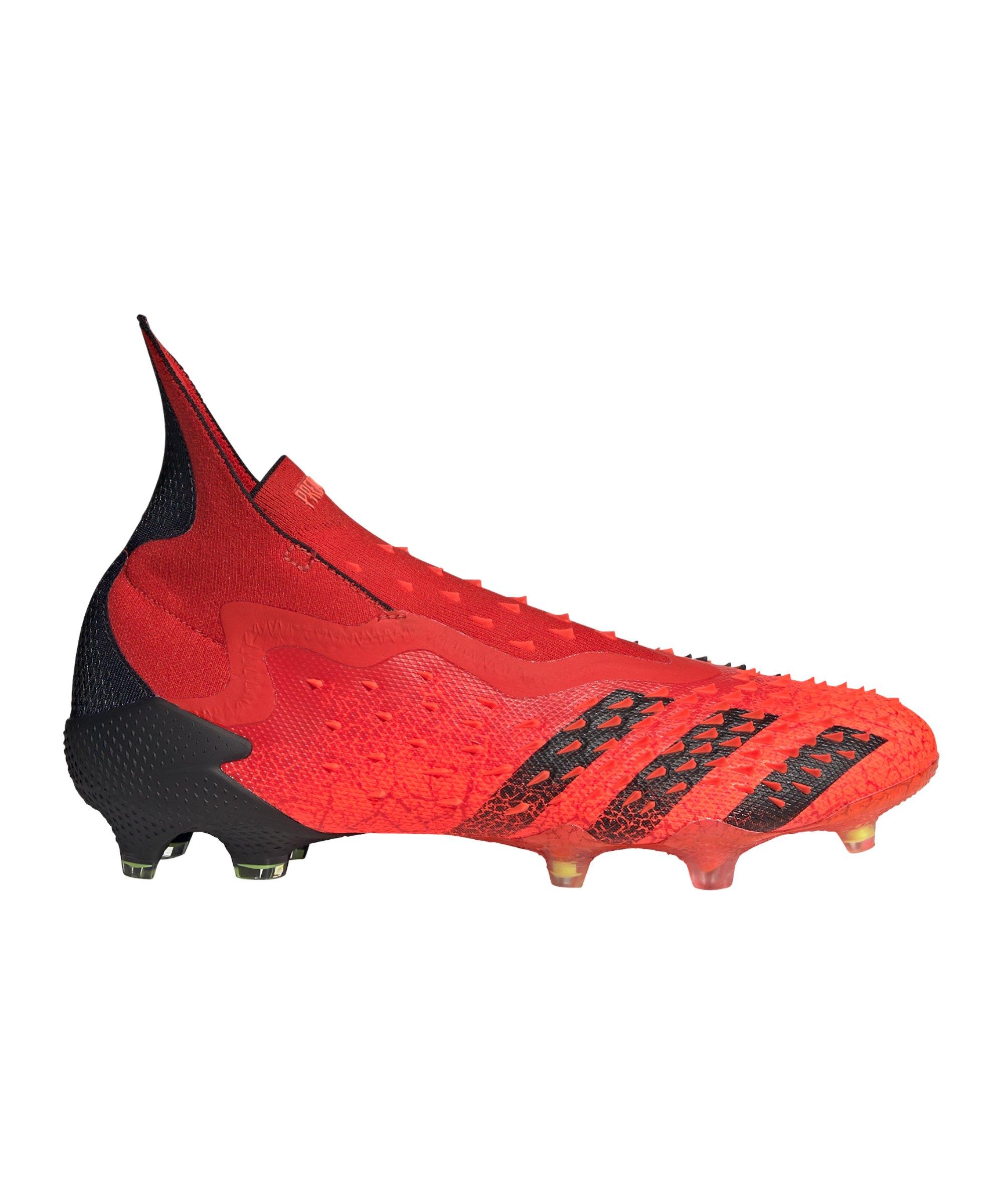 adidas Predator FREAK+ FG Meteorite Rot Schwarz - rot