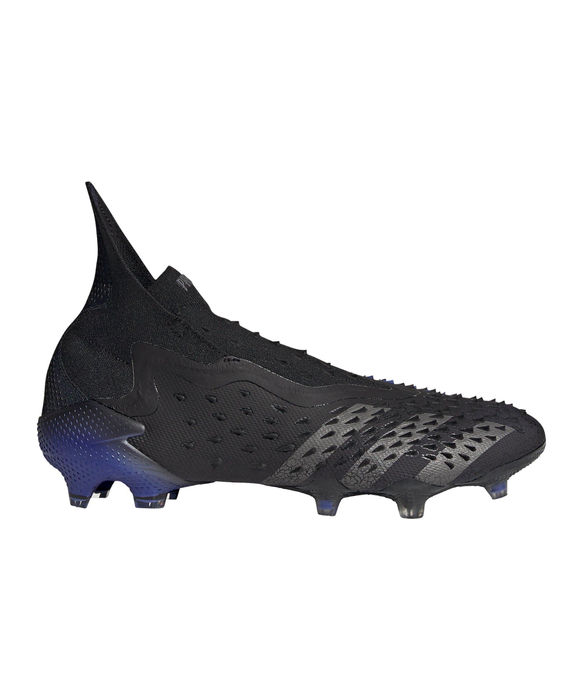 adidas Predator FREAK+ FG Escapelight Schwarz Blau - schwarz