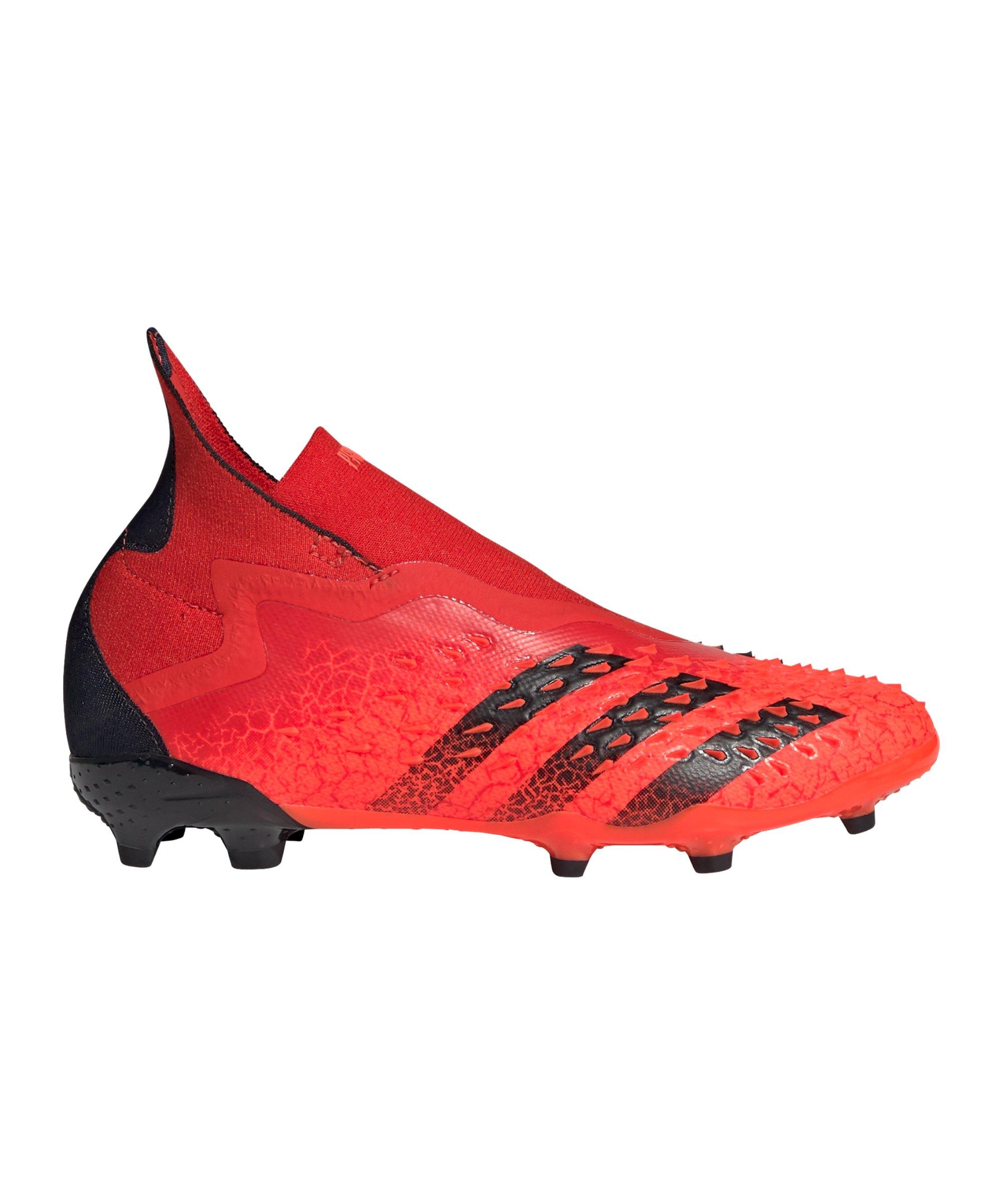 adidas Predator FREAK+ FG Meteorite J Kids Rot Schwarz - rot
