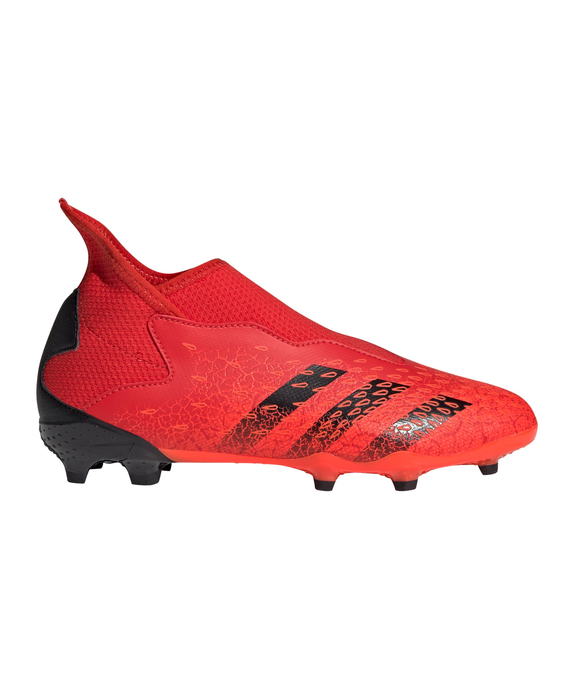adidas Predator FREAK.3 LL FG Meteorite J Kids Rot Schwarz - rot