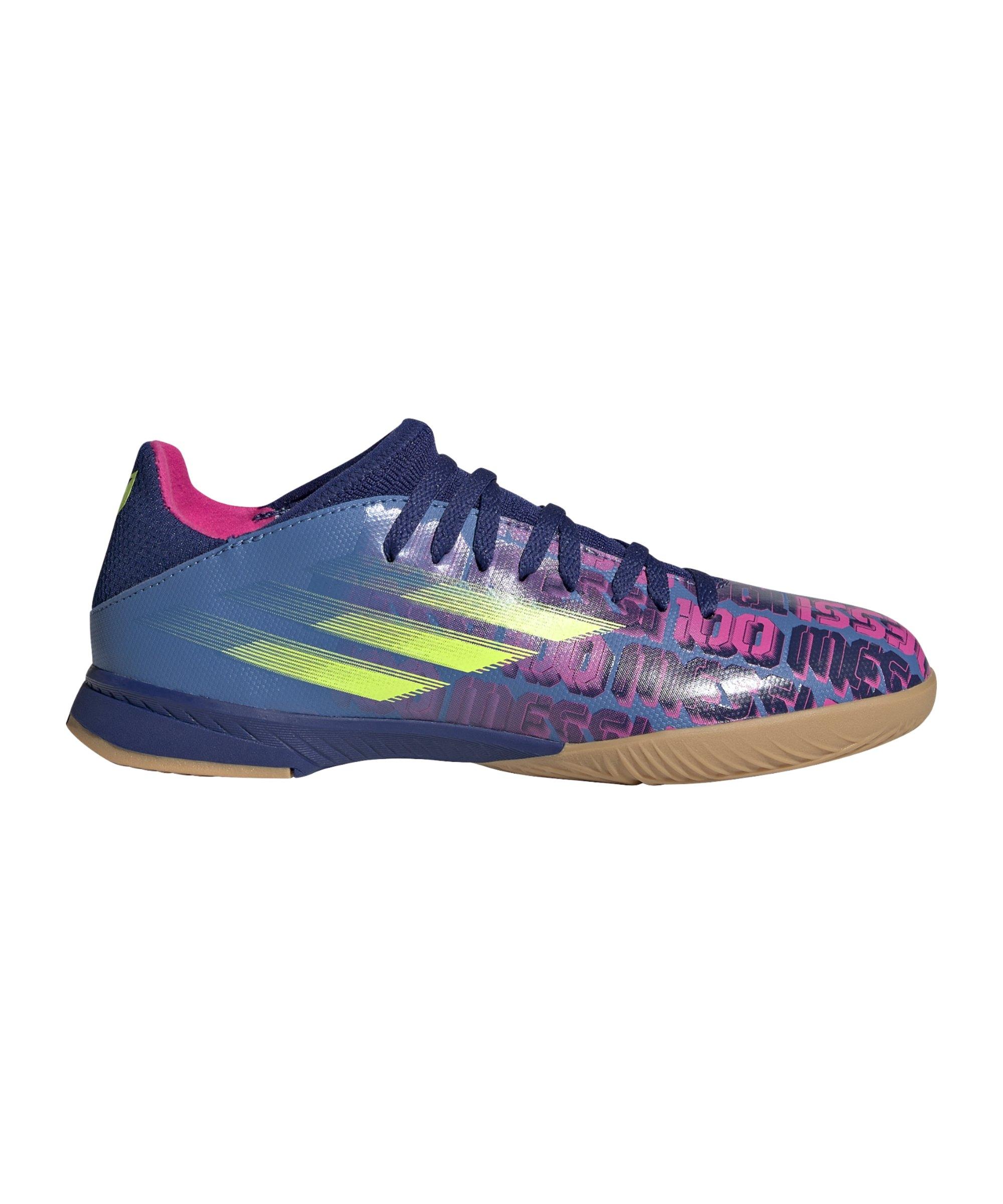 adidas X SPEEDFLOW.3 IN Halle Messi Unparalleled J Kids Blau - blau