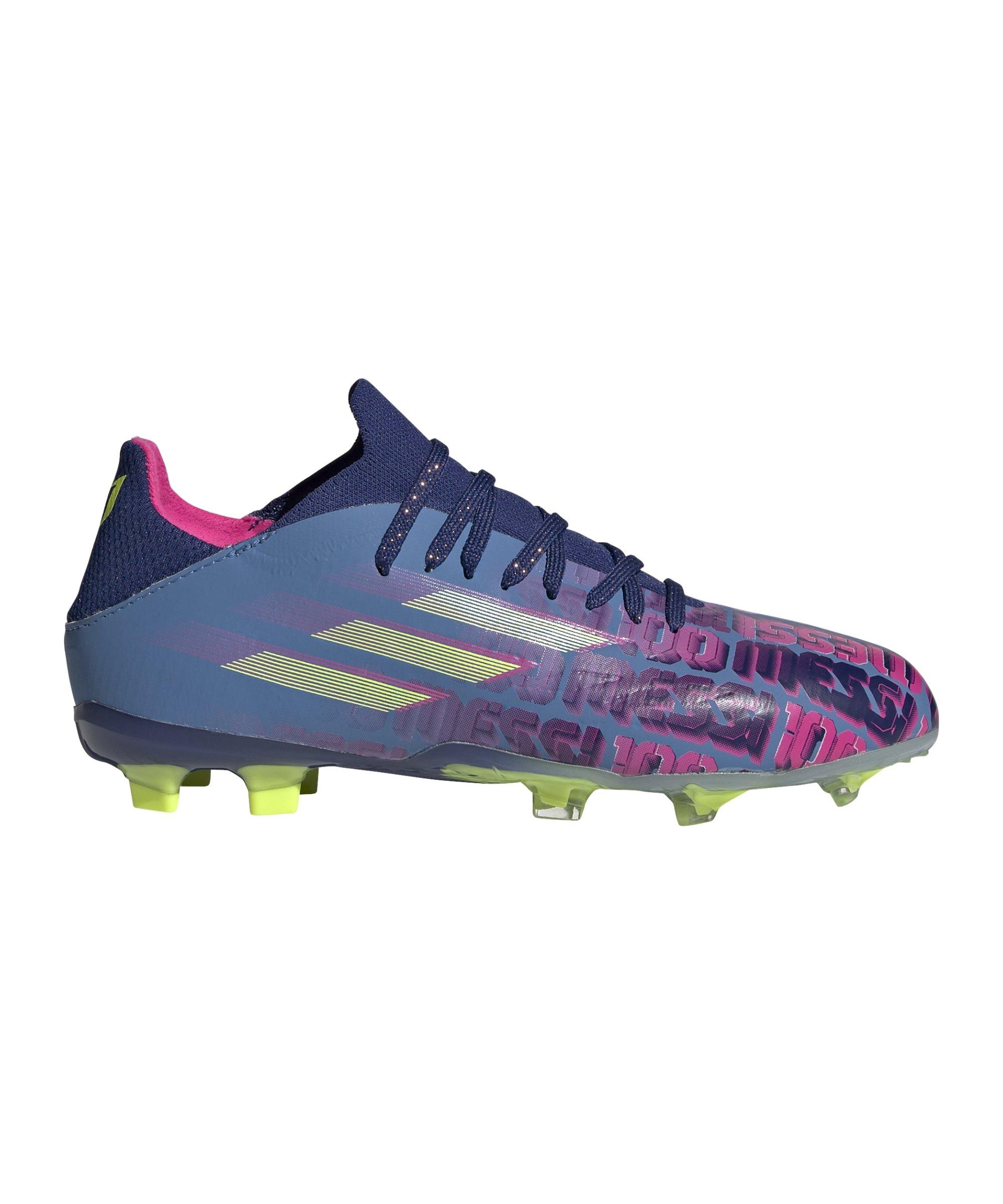 adidas X SPEEDFLOW.1 FG Messi Unparalleled J Kids Blau - blau