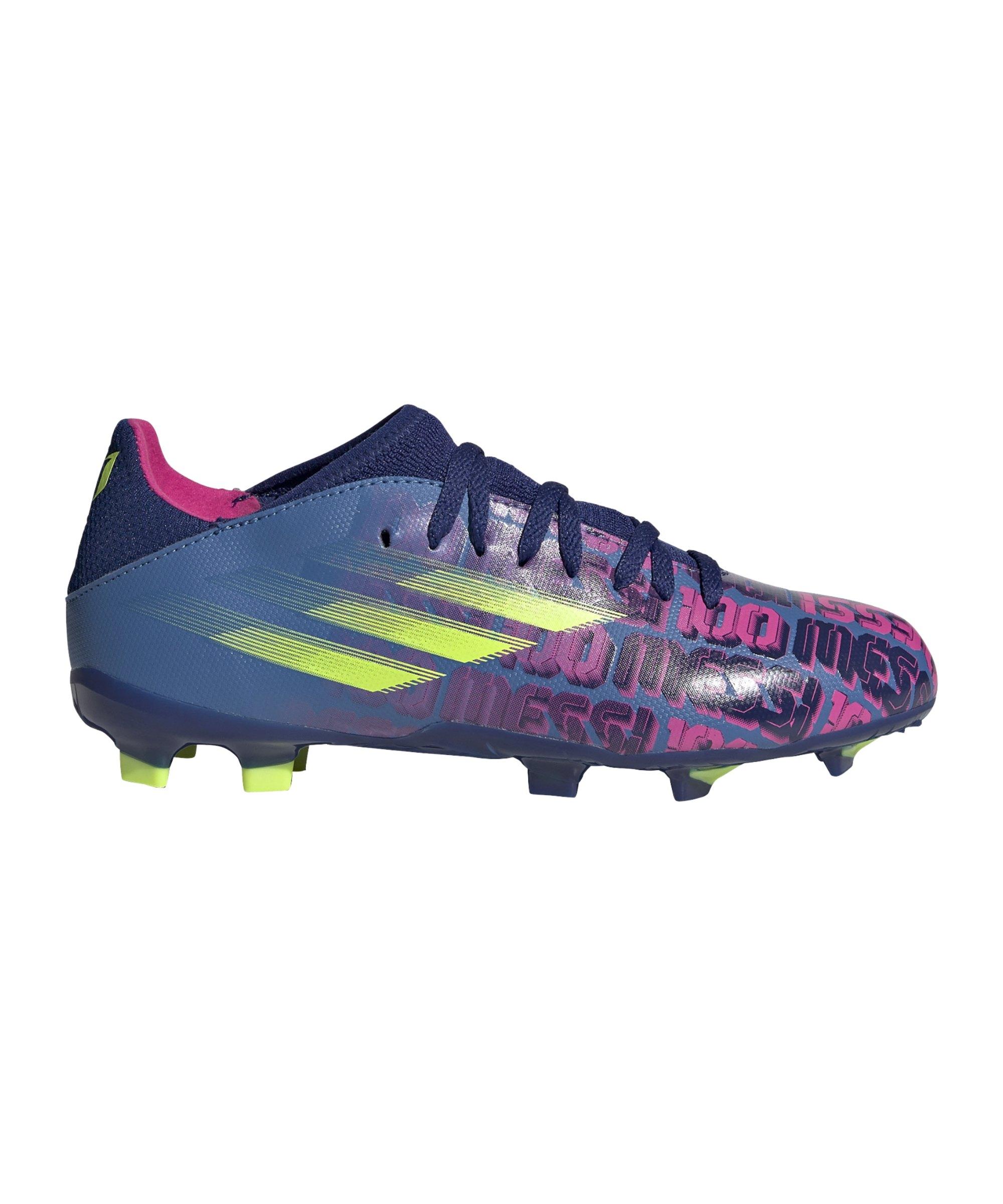 adidas X SPEEDFLOW.3 FG Messi Unparalleled J Kids Blau - blau