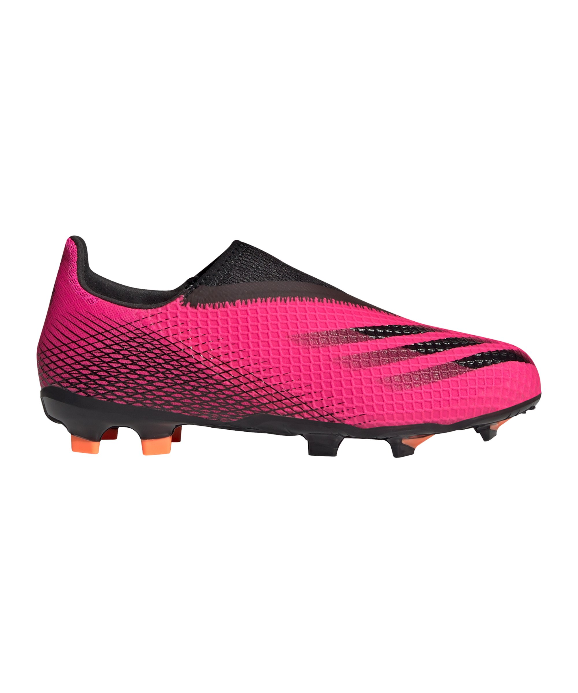adidas X GHOSTED.3 LL FG Superspectral J Kids Pink Schwarz Orange - pink