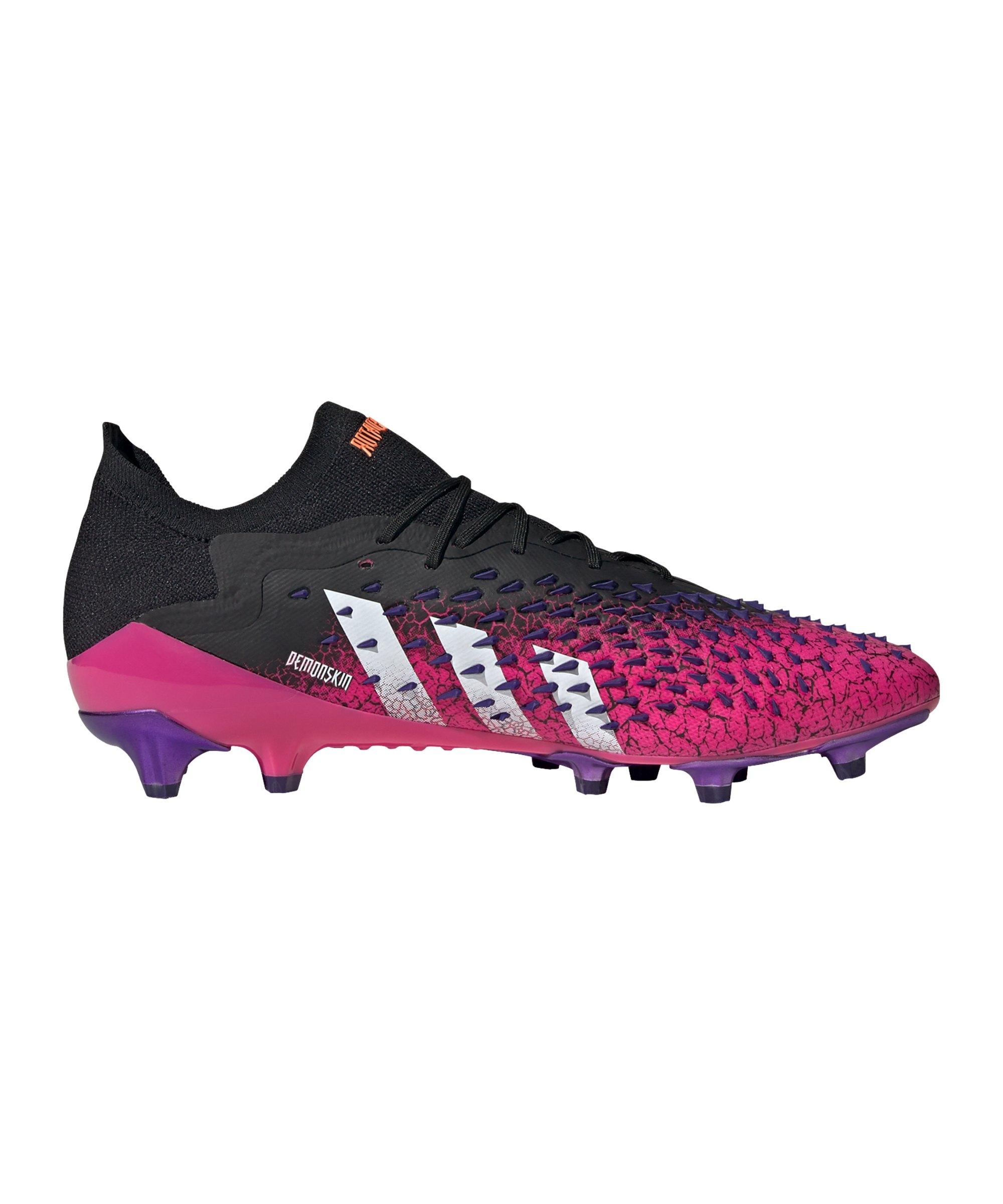 adidas Predator FREAK.1 L AG Superspectral Schwarz Weiss Pink - schwarz