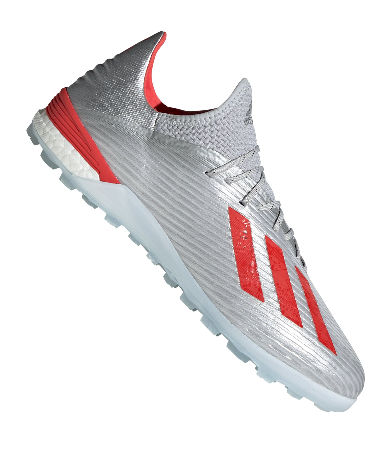 adidas X 19.1 TF Silber Rot - Silber