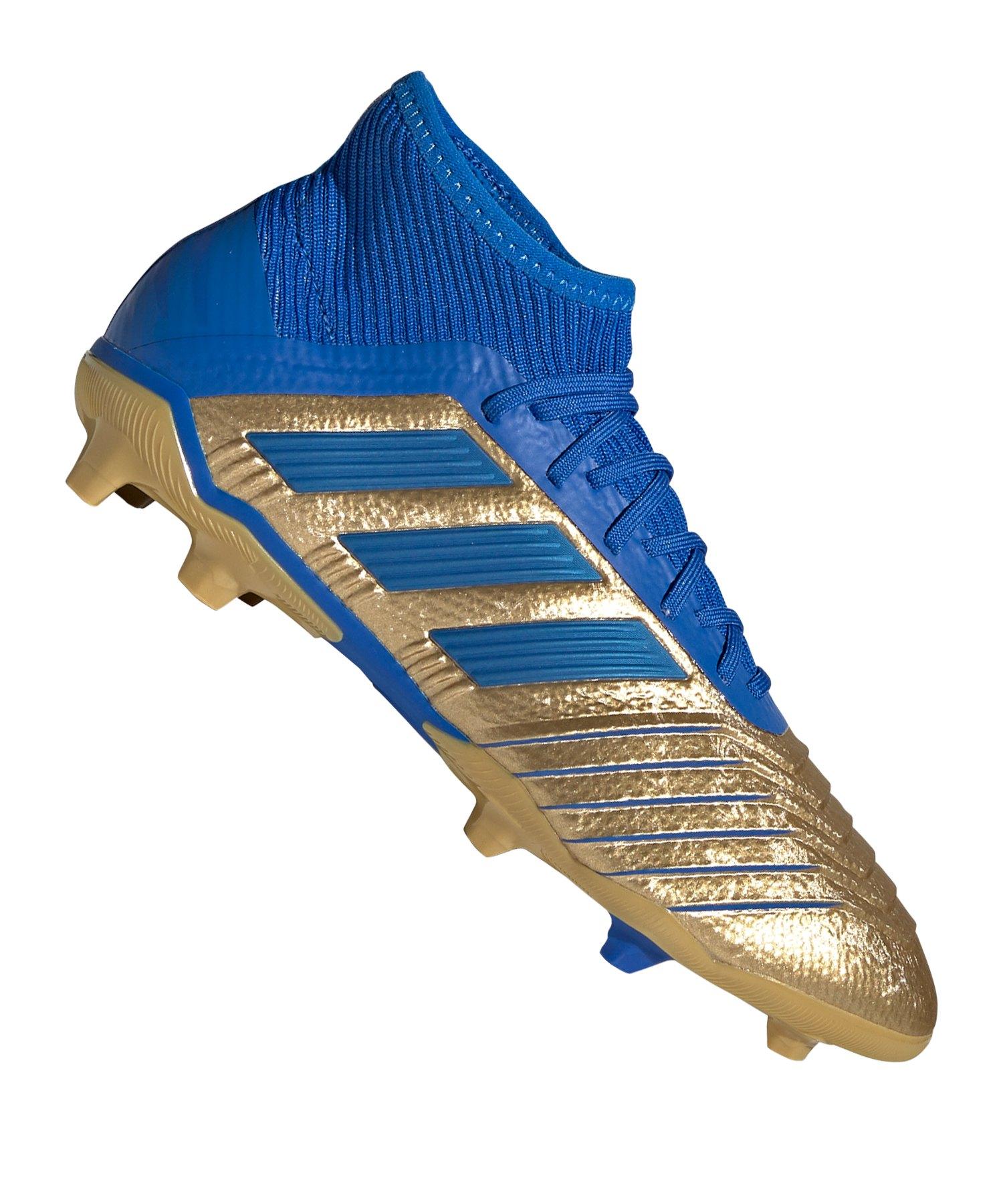 adidas Predator 19.1 FG Kids Gold Blau - gold