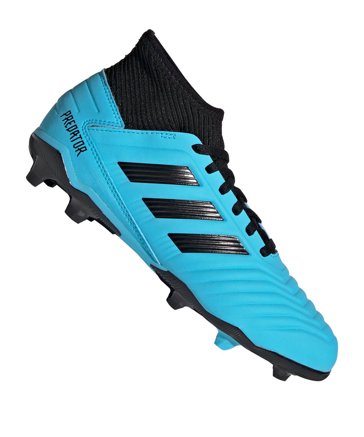 adidas Predator 19.3 FG J Kids Blau Schwarz - blau