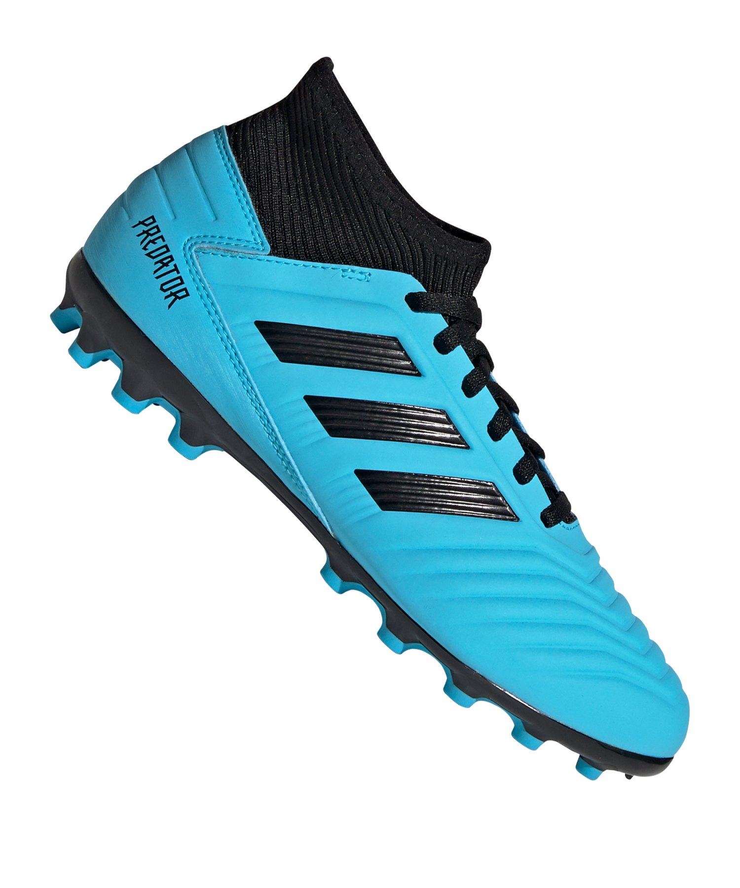 adidas Predator 19.3 AG J Kids Blau Schwarz - blau