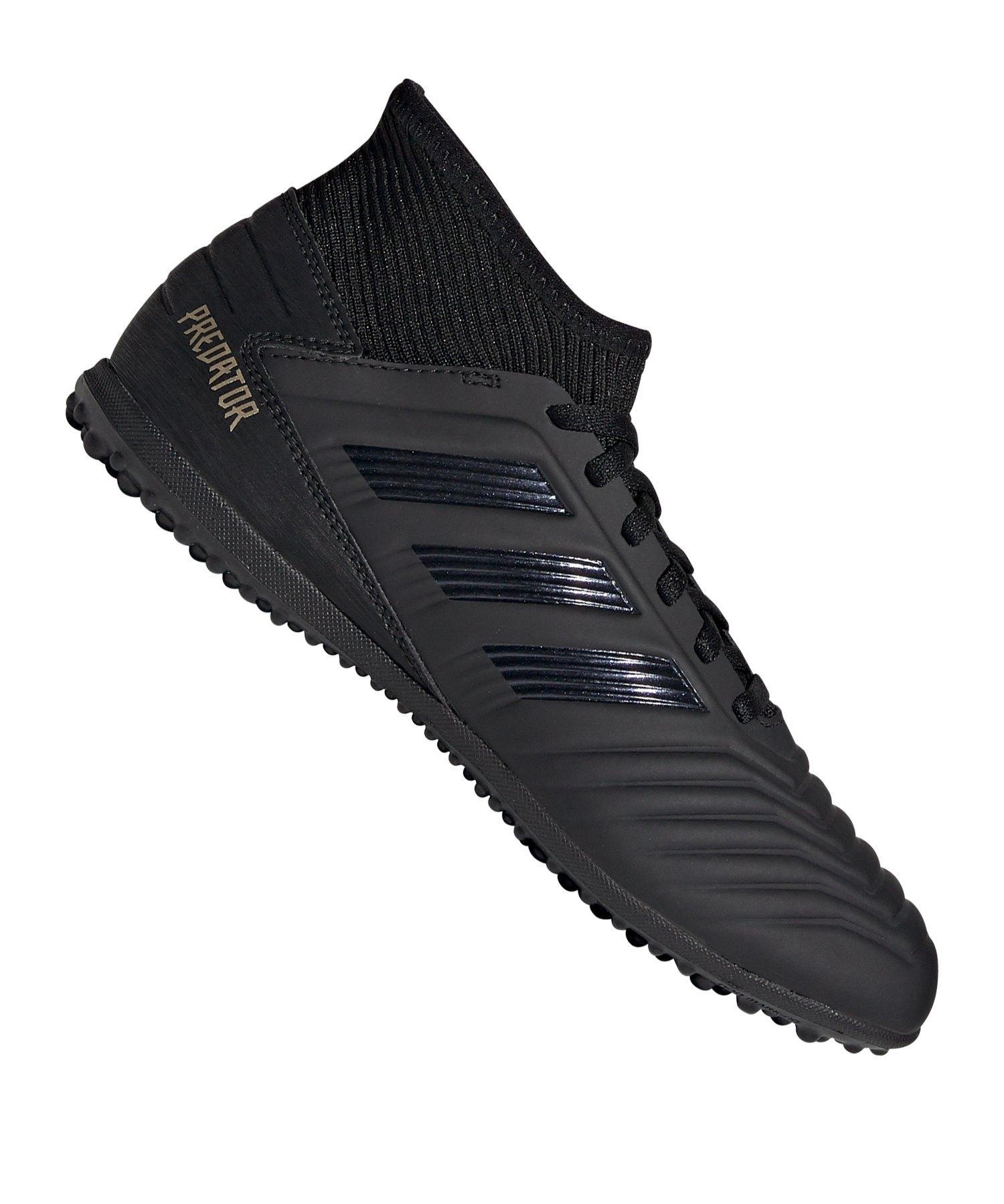 adidas Predator 19.3 TF J Kids Schwarz Gold - Schwarz