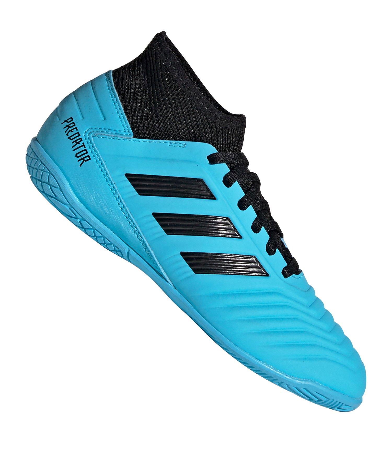 adidas Predator 19.3 IN Halle J Kids Blau Schwarz - blau
