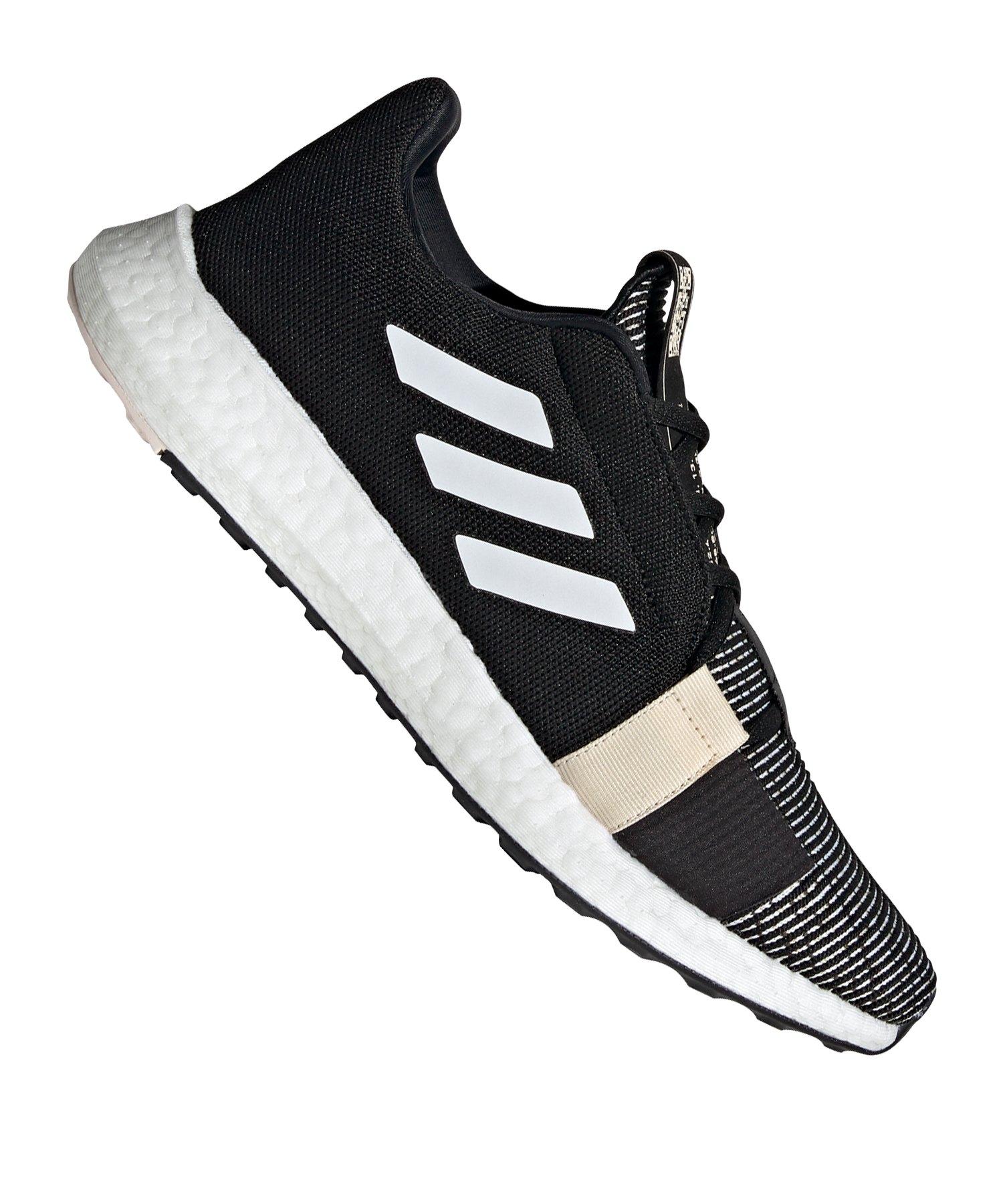 adidas Sense Boost Go Running Schwarz Weiss - schwarz