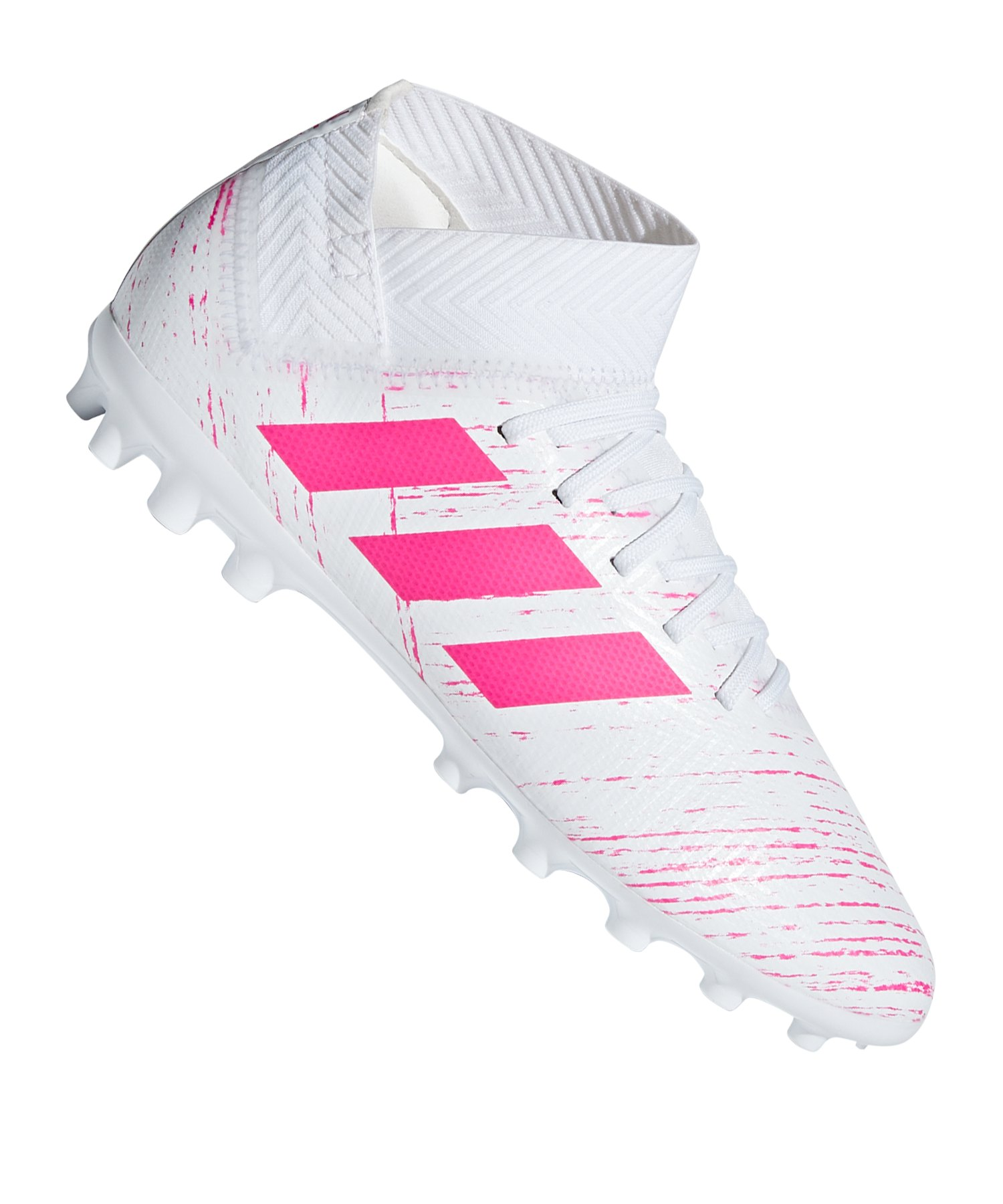 adidas NEMEZIZ 18.3 AG J Kids Weiss Pink - weiss