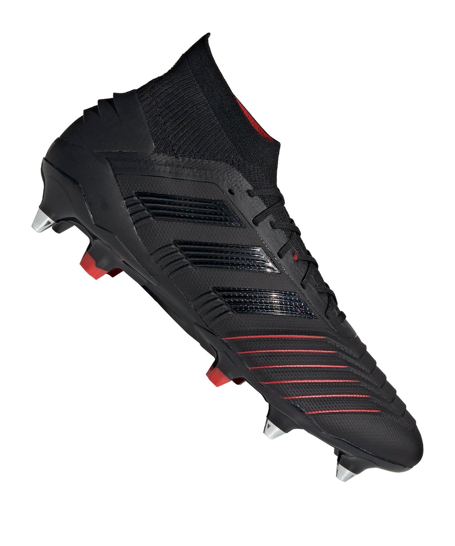 adidas Predator 19.1 SG Schwarz - schwarz