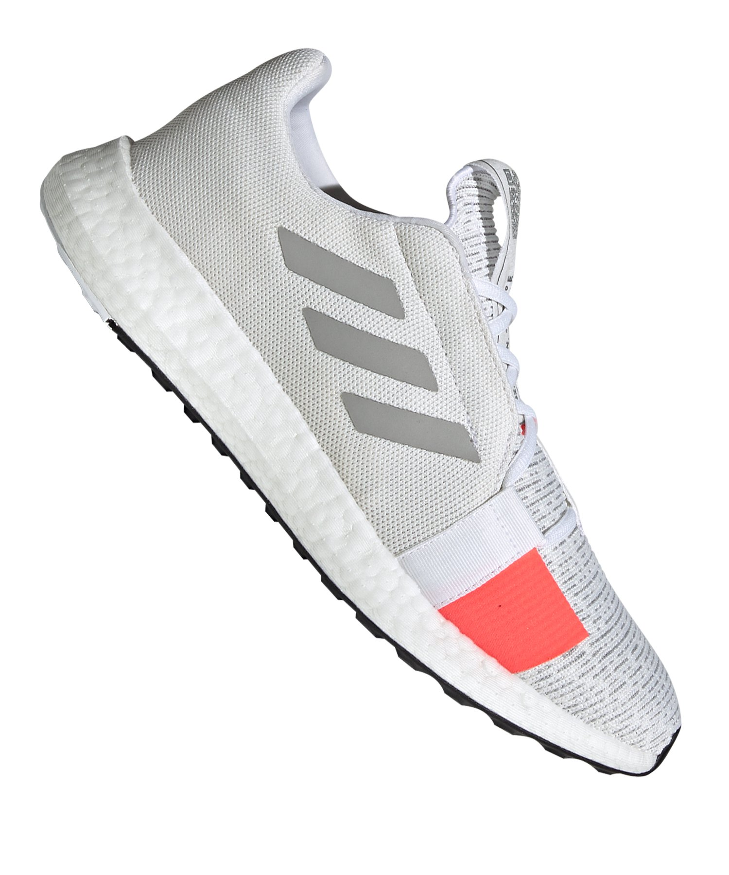 adidas Sense Boost Go Running Weiss Grau - weiss