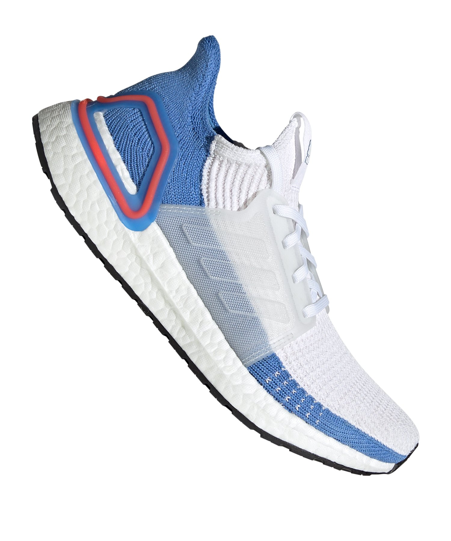 adidas Ultra Boost 19 Running Damen Weiss Blau - weiss